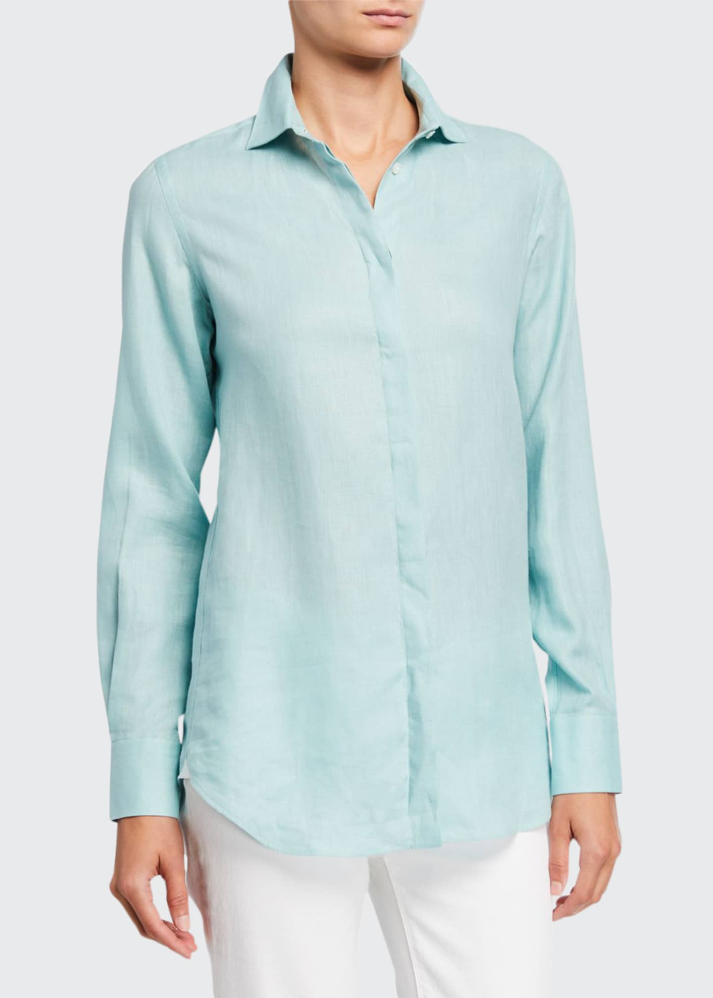Image 1 of 2: Kara Solaire Delave Linen Shirt