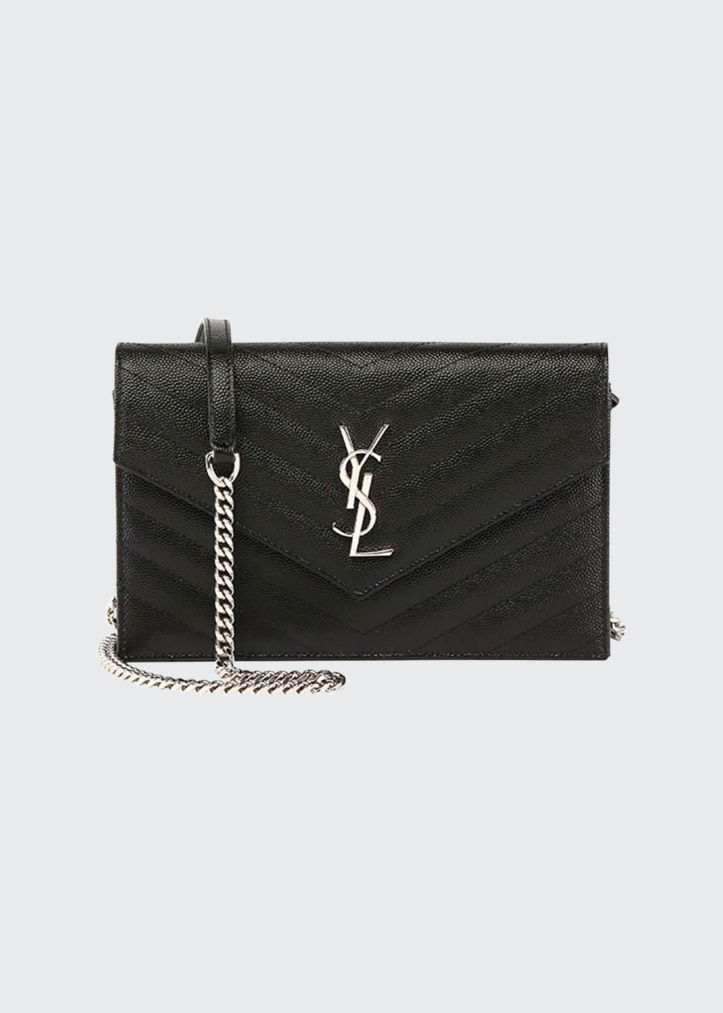 Image 1 of 1: Monogram YSL Wallet on a Chain, Black