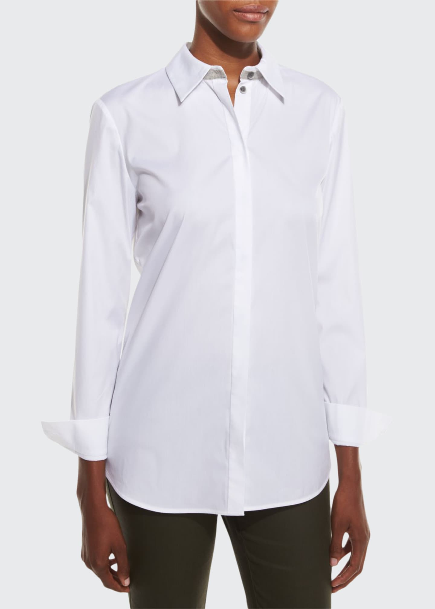 Image 1 of 2: Stretch Cotton Brody Shirt, White