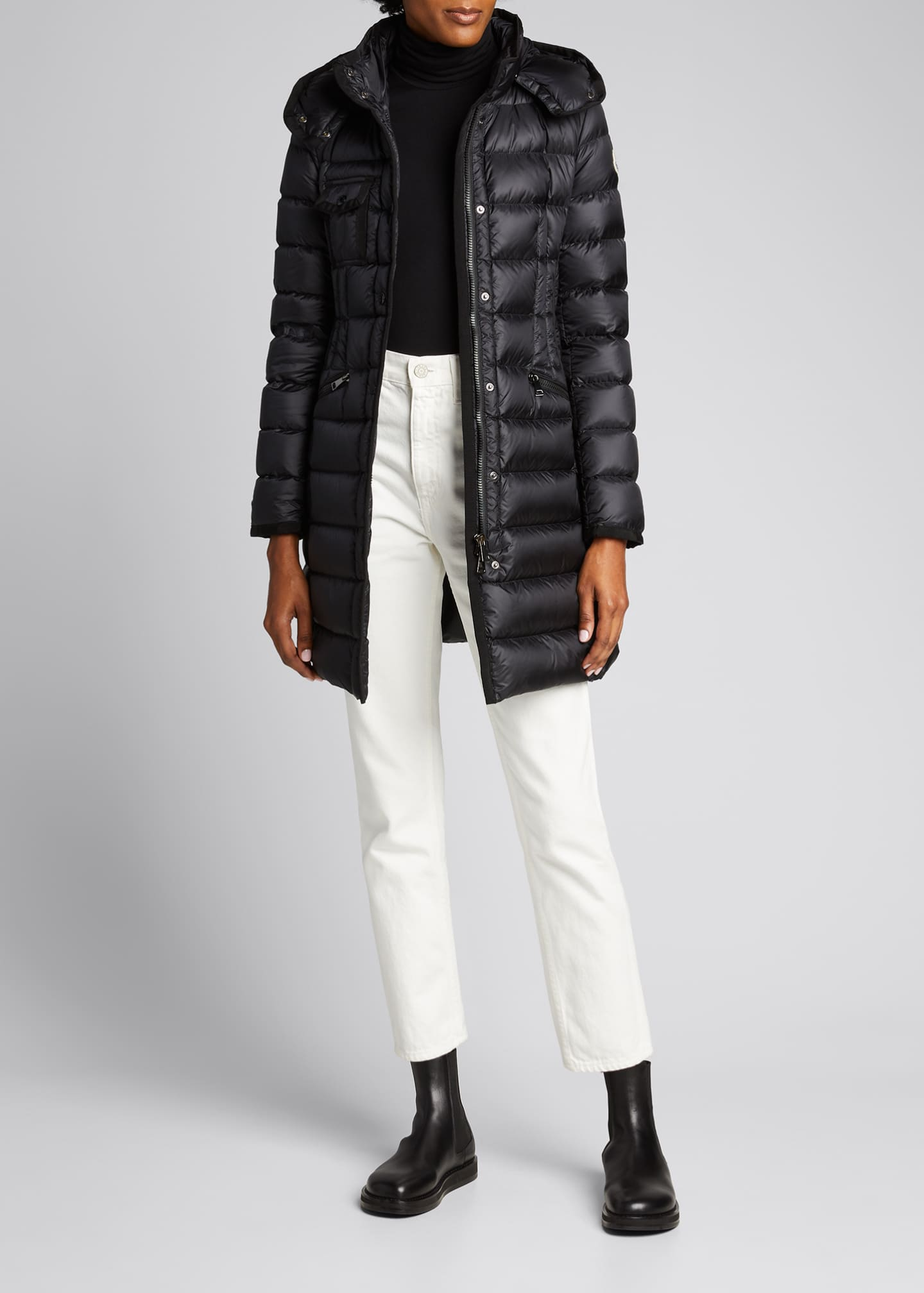 Image 1 of 1: Hermine Hooded Long Puffer Coat