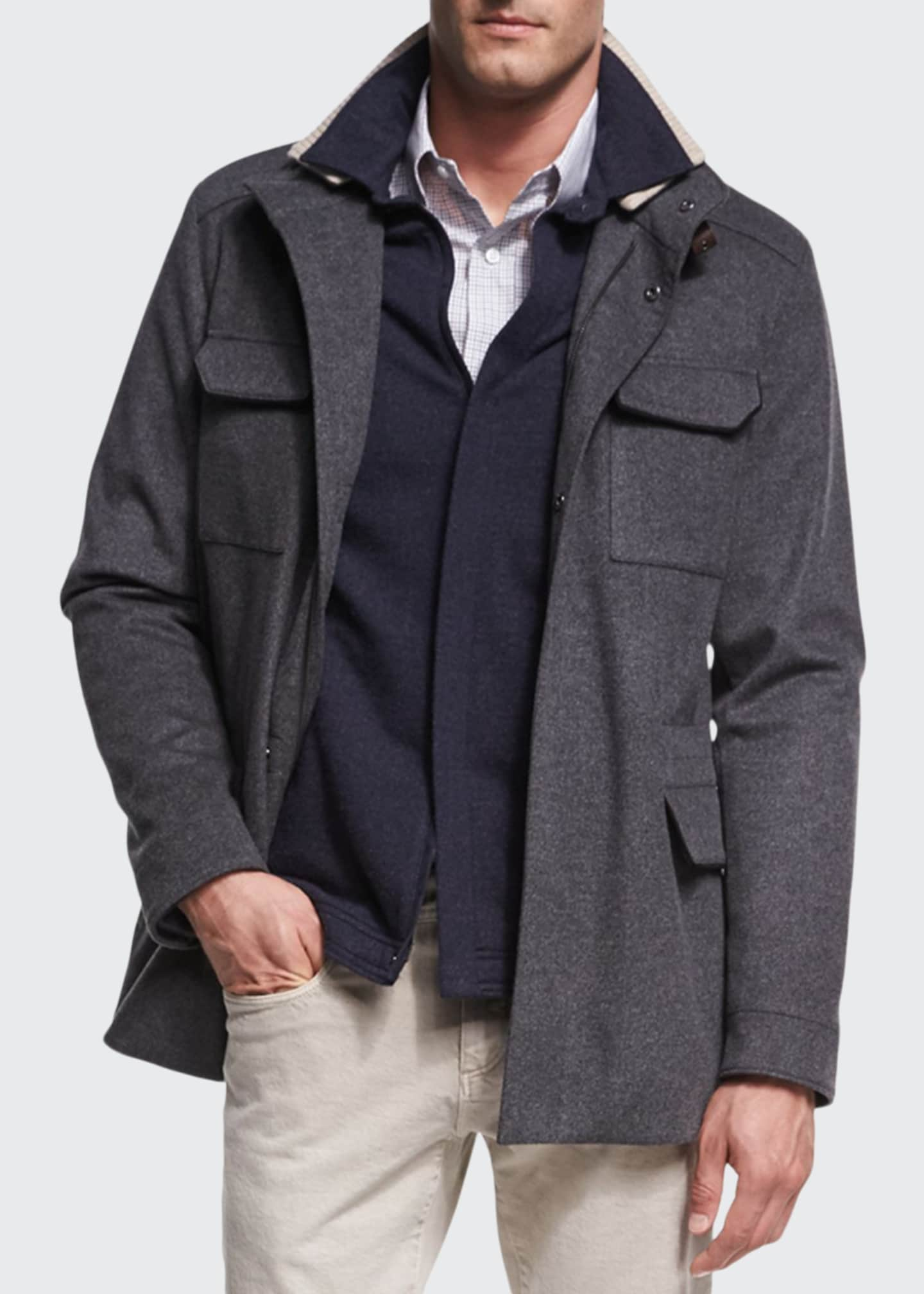 Image 1 of 2: New Traveler Cashmere Stretch Storm System® Jacket, Smoke