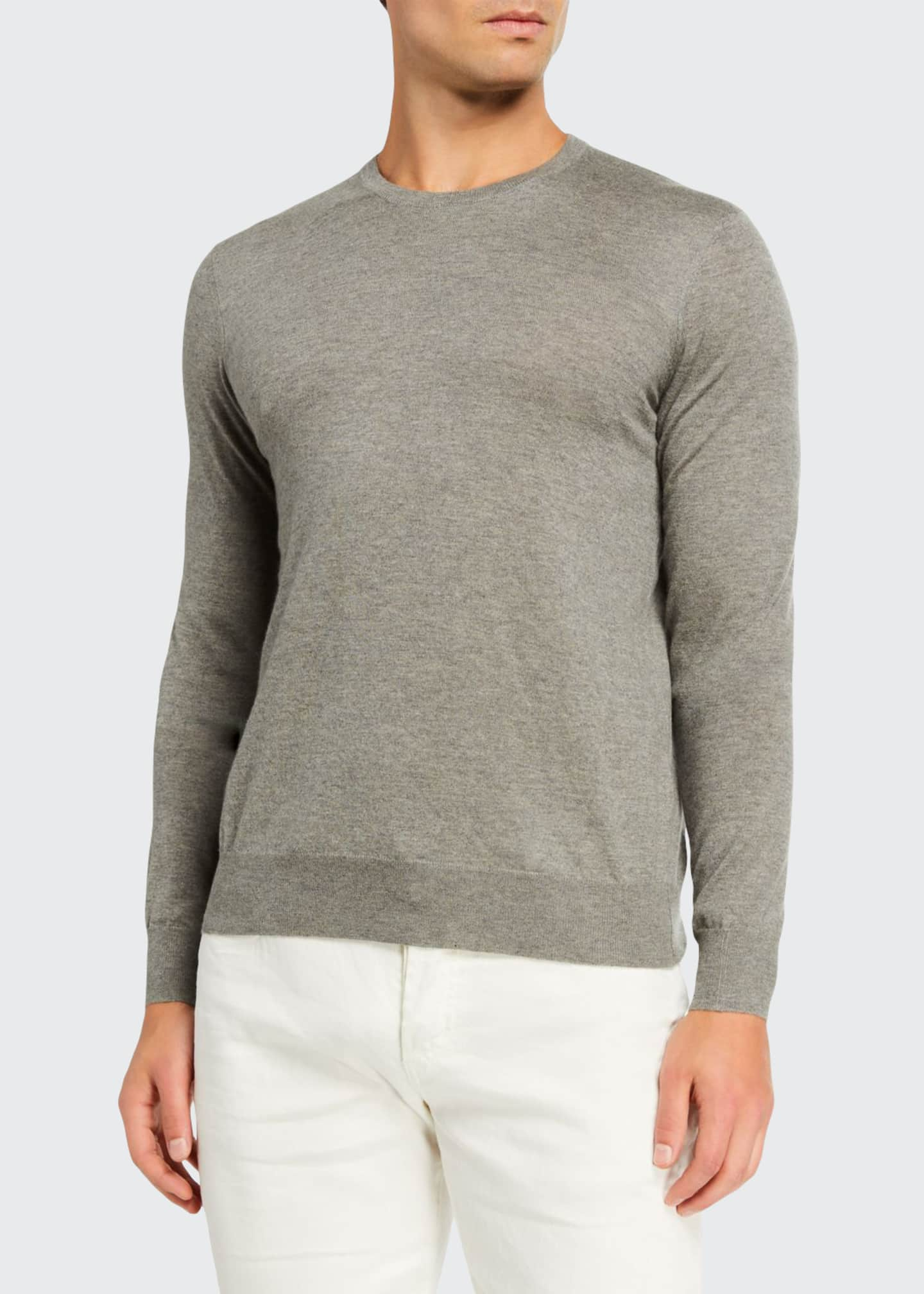 Image 1 of 2: Men's Cashmere Crewneck Sweater