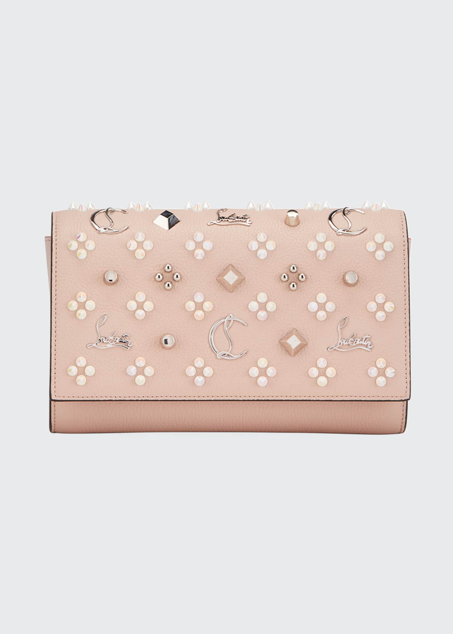 Image 1 of 3: Paloma Fold-Over Embellished Clutch Bag