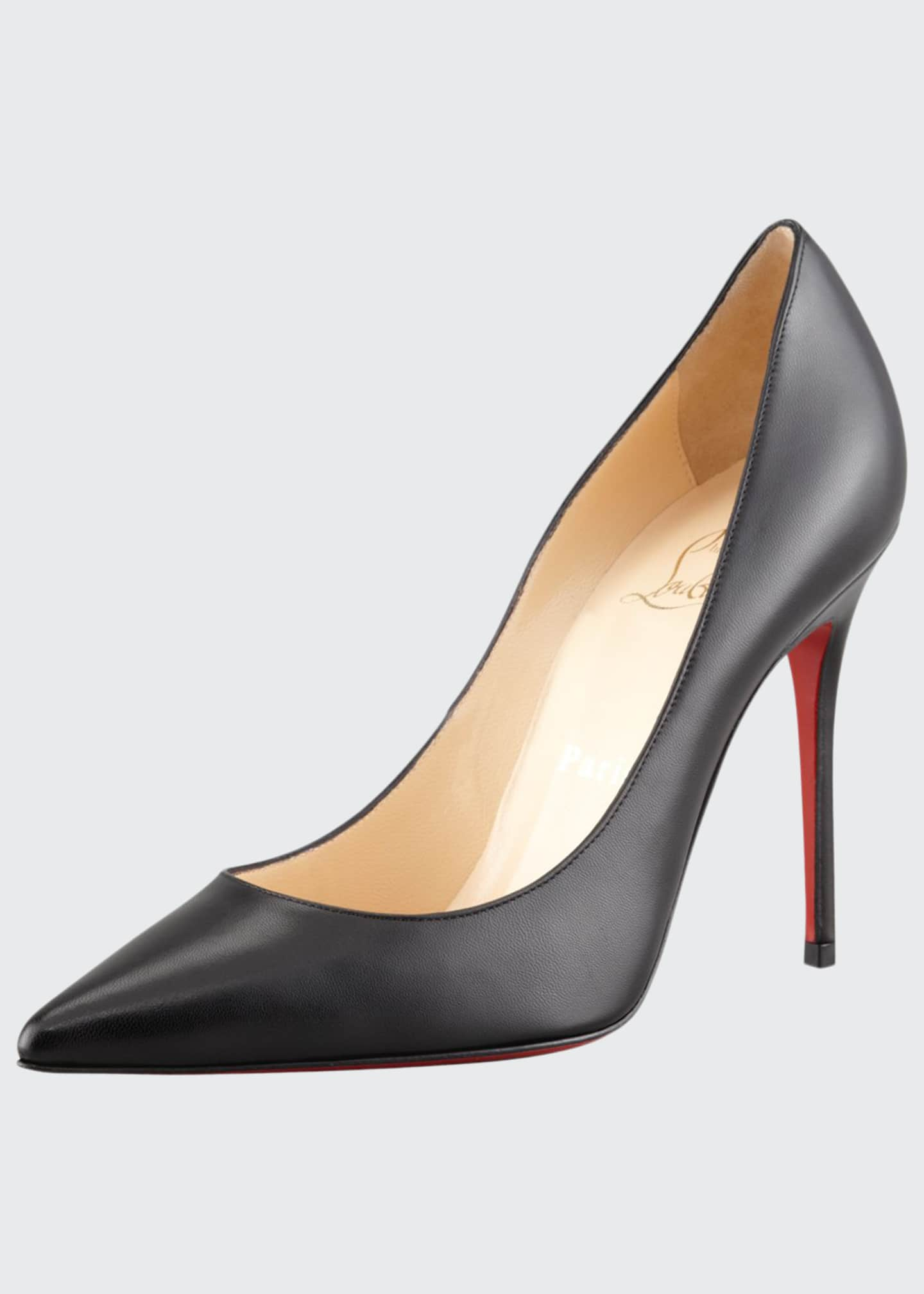 Christian Louboutin Decollette Red Sole Pumps, Black