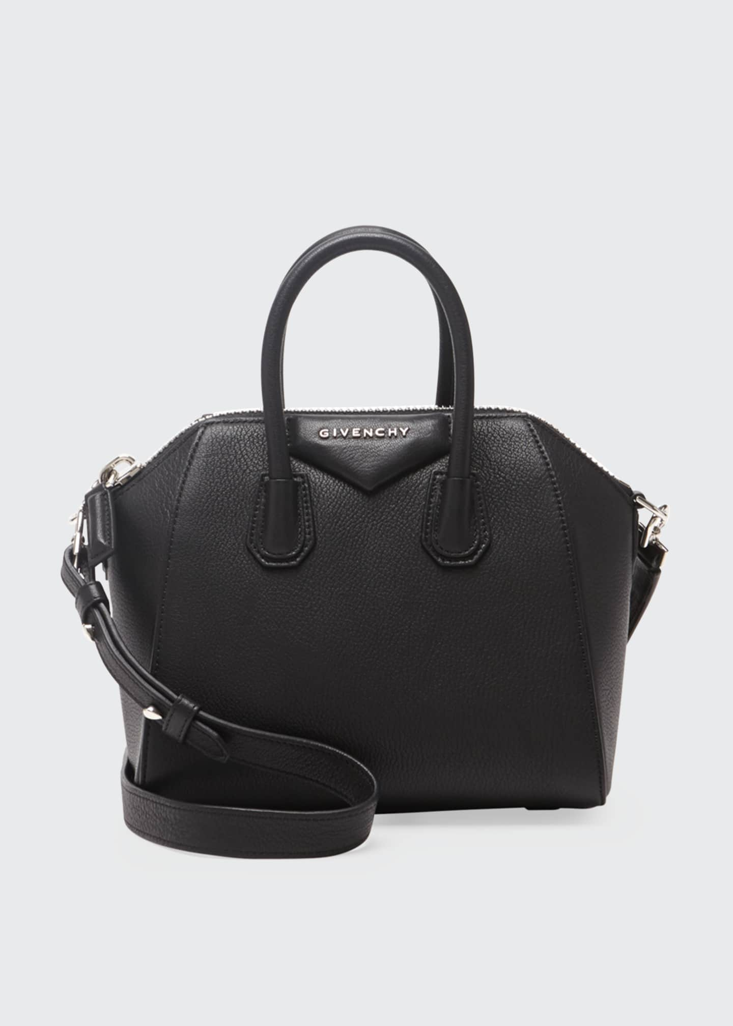 Image 1 of 5: Antigona Mini Leather Satchel Bag