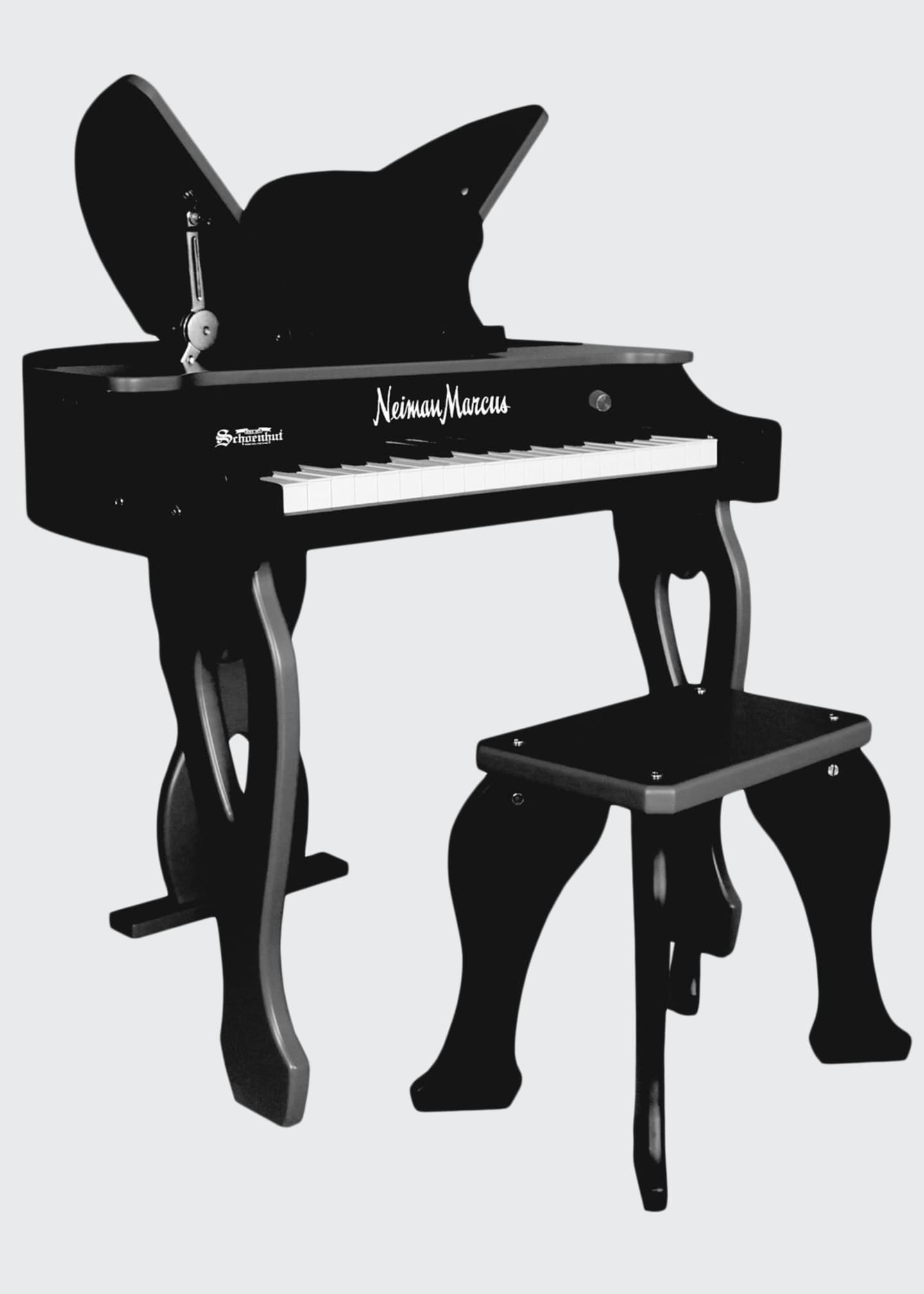 Image 1 of 1: 37-Key Electronic Butterfly Piano & Bench, Black