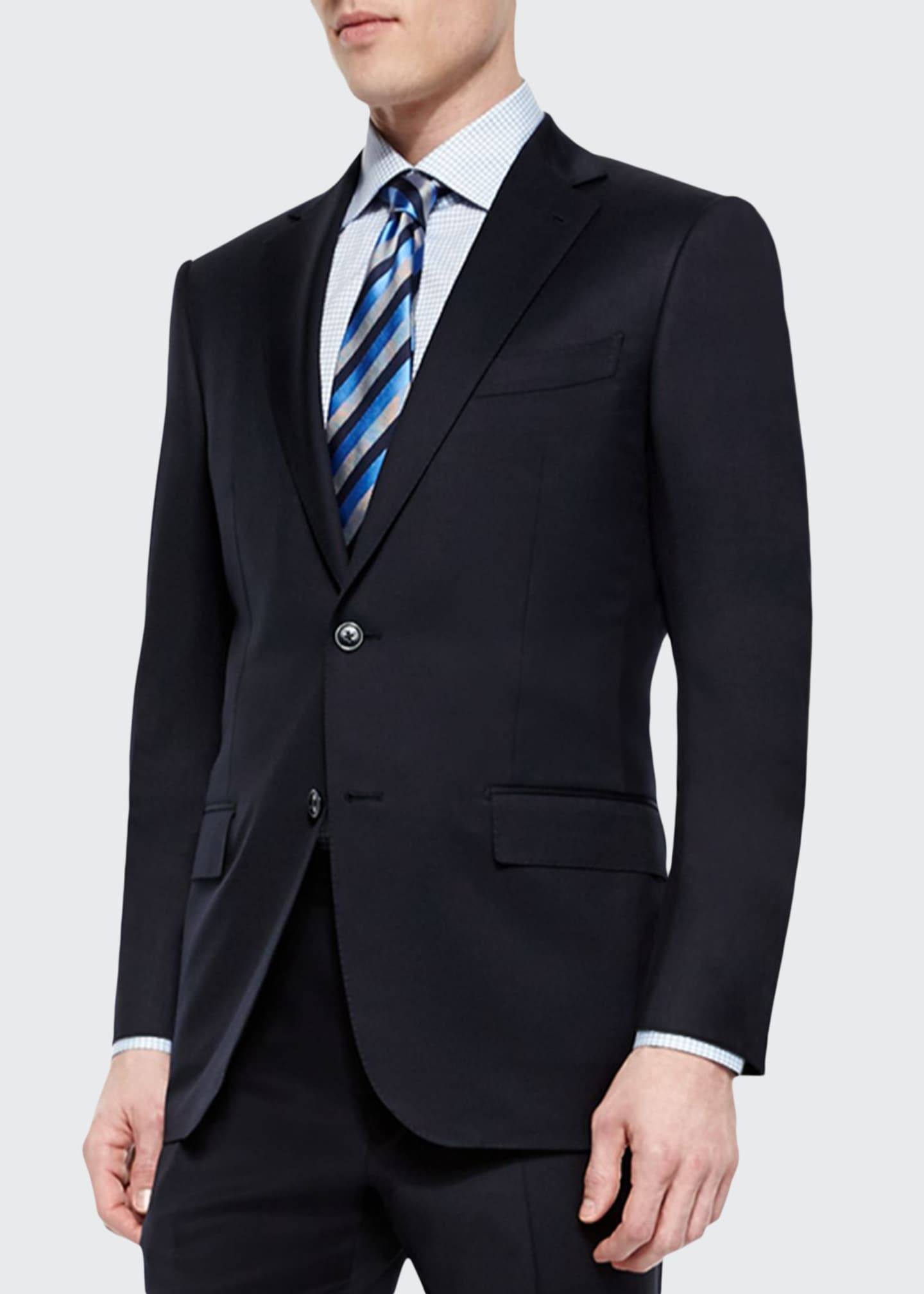 Image 1 of 3: Solid Two-Piece Solid Wool Suit