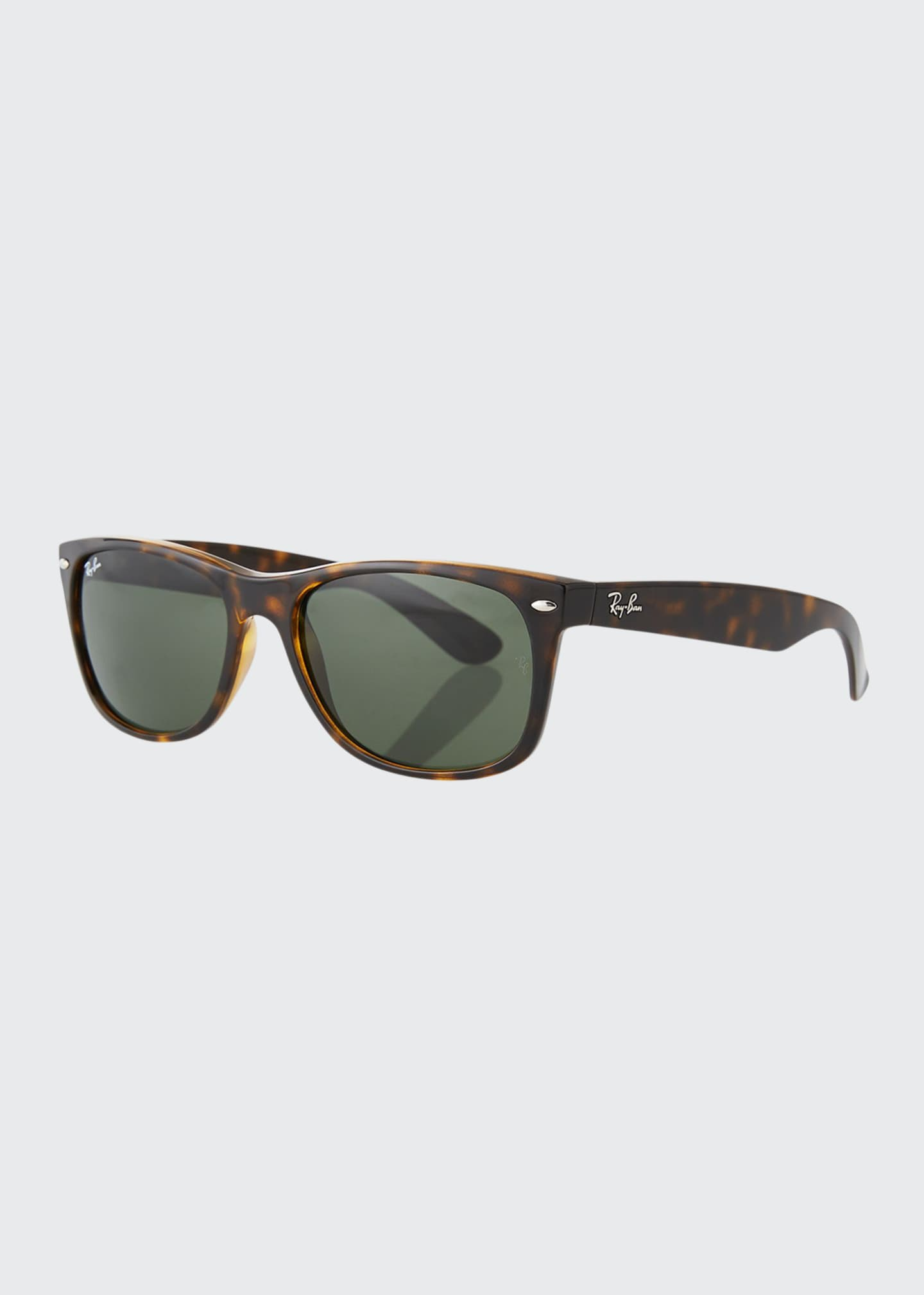 Image 1 of 3: Men's New Wayfarer 58mm Flat-Top Plastic Sunglasses