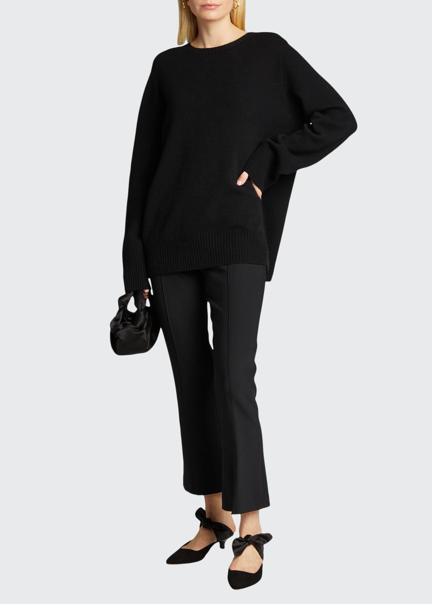 THE ROW Beca Seamed Pants, Black