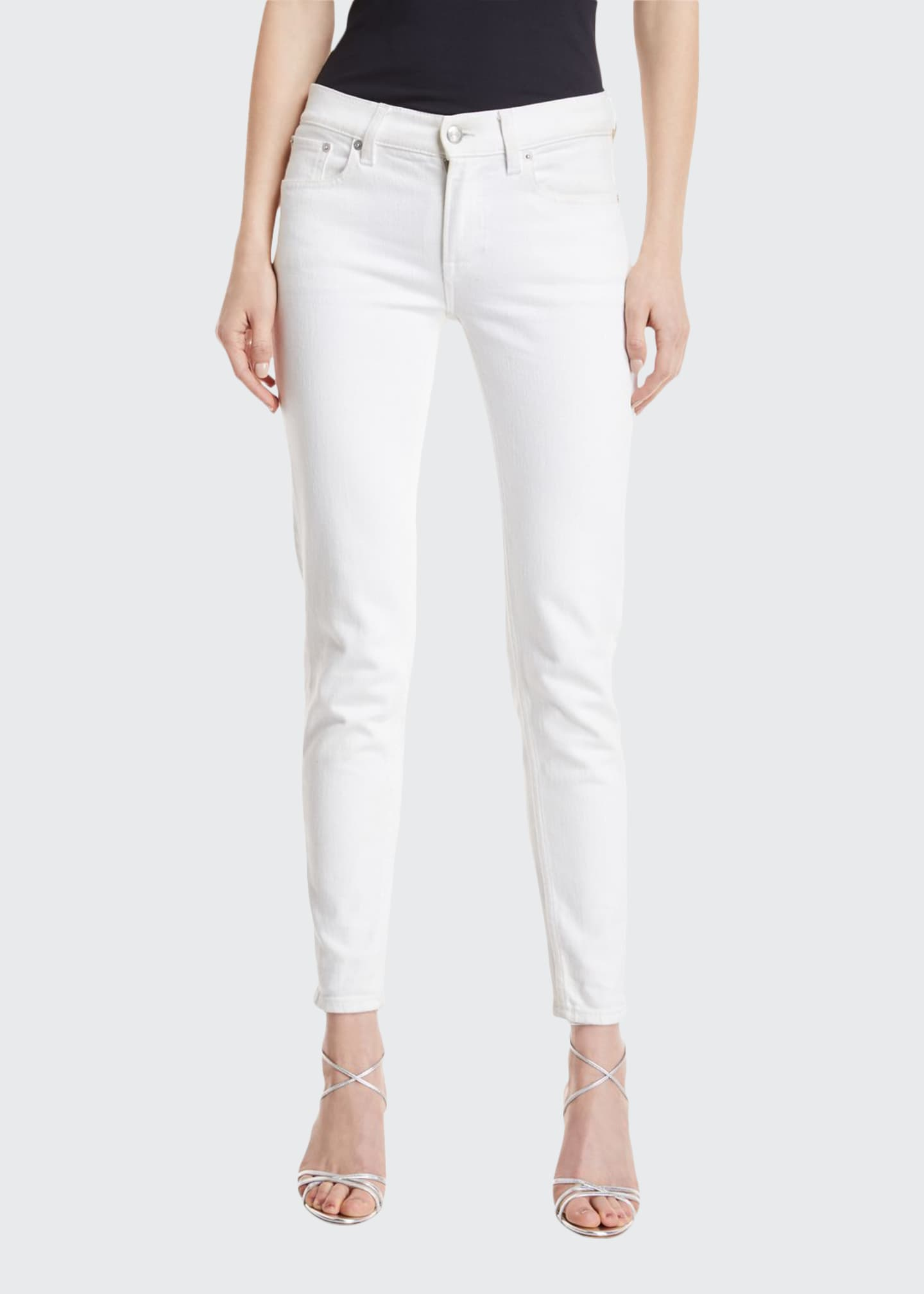 Image 1 of 4: 400 Matchstick Ankle Jeans, White