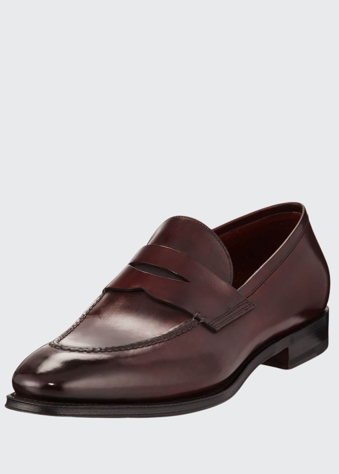 Image 1 of 3: Duke Leather Penny Loafer