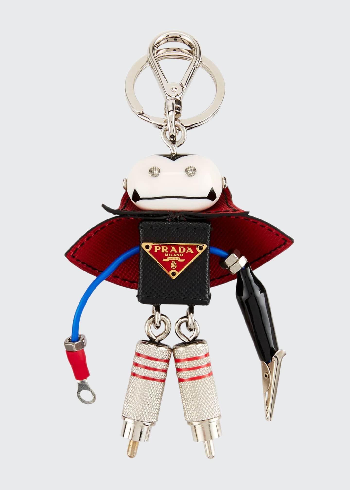 Prada Vlad Robot Key Chain, Black