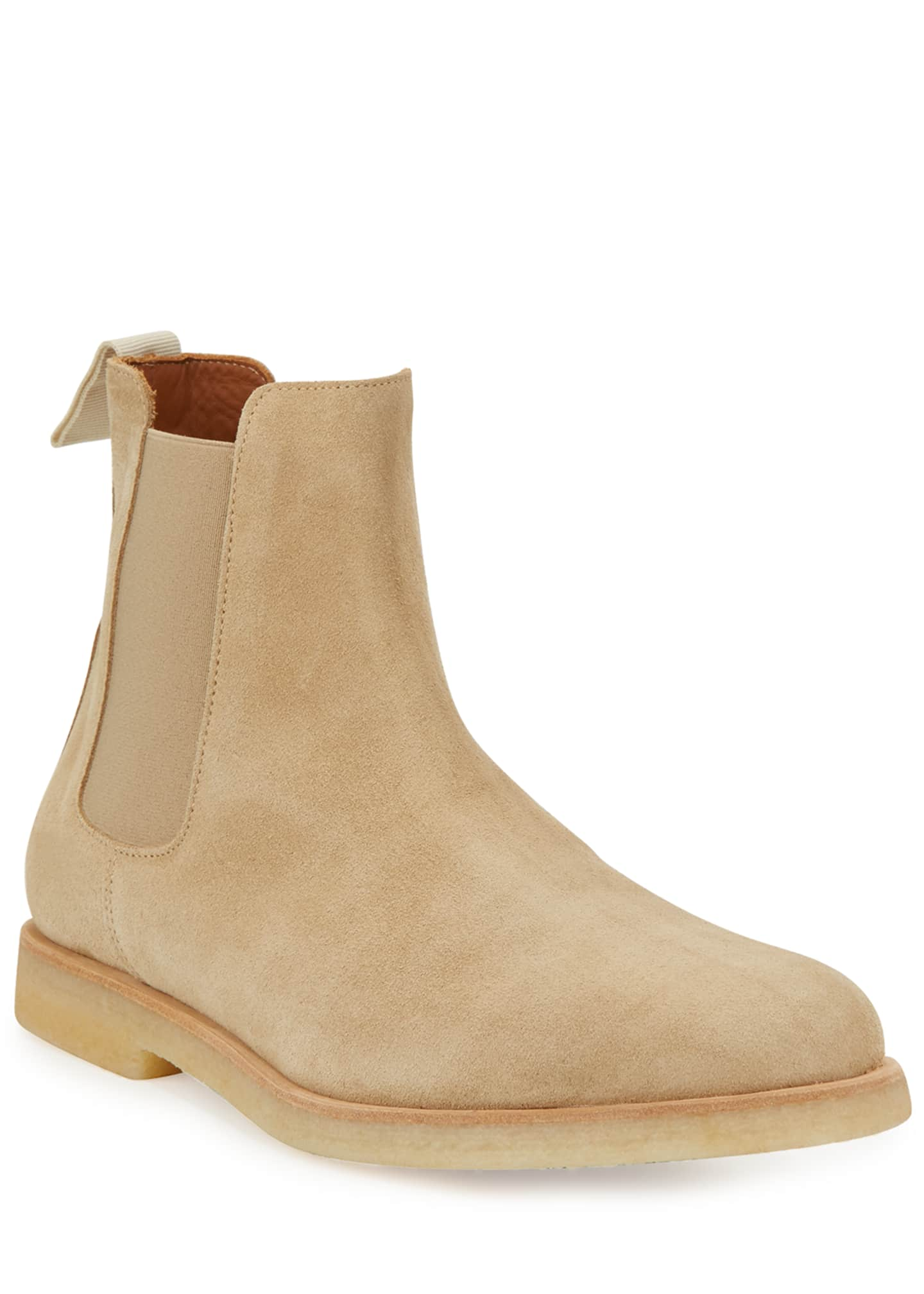 Image 1 of 3: Calf Suede Chelsea Boot, Tan