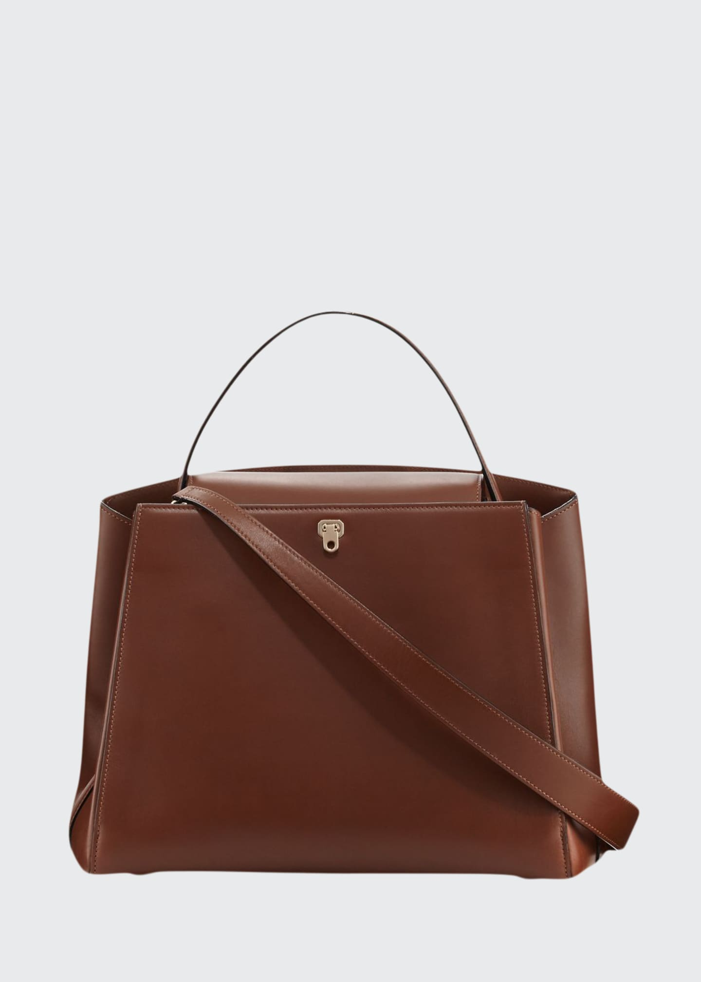 Image 1 of 3: Triennale Leather Top-Handle Bag