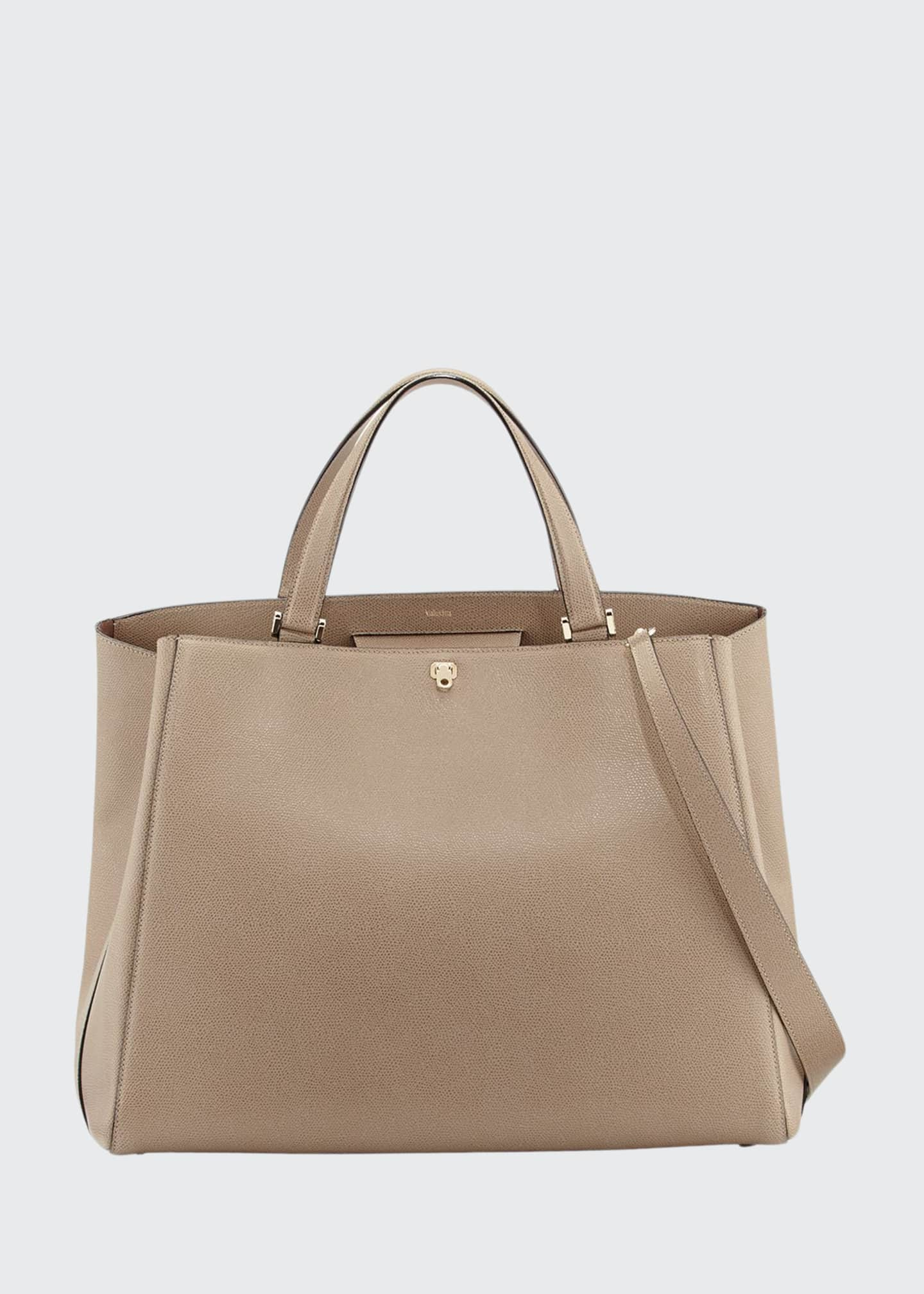 Image 1 of 3: Brera Large Leather Top-Handle Tote Bag