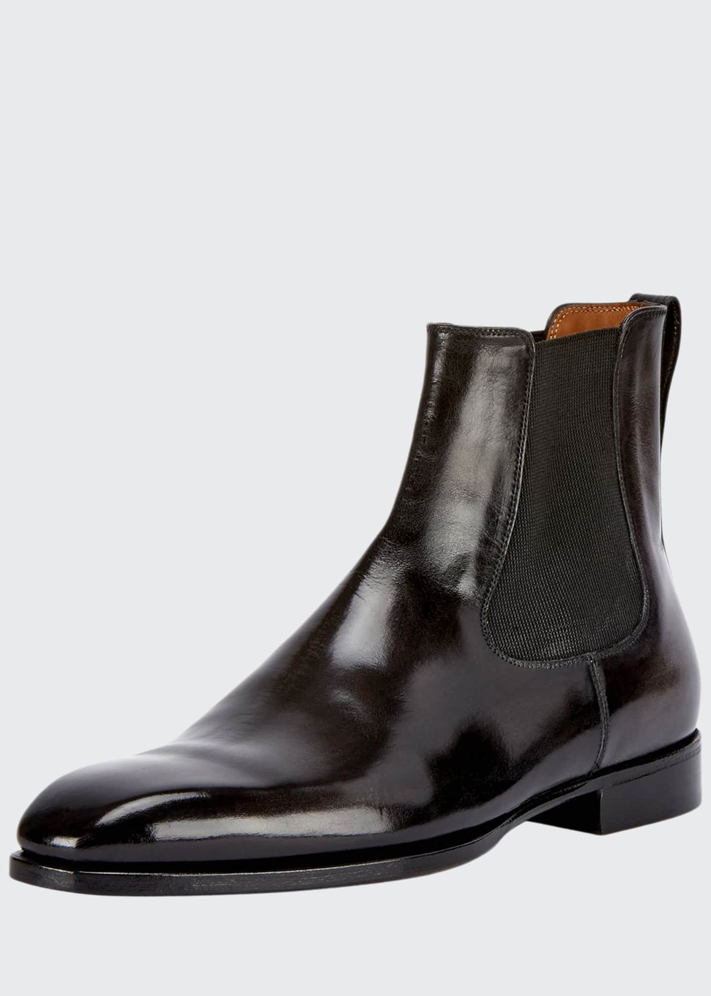 Image 1 of 3: Leather Chelsea Boot, Gray