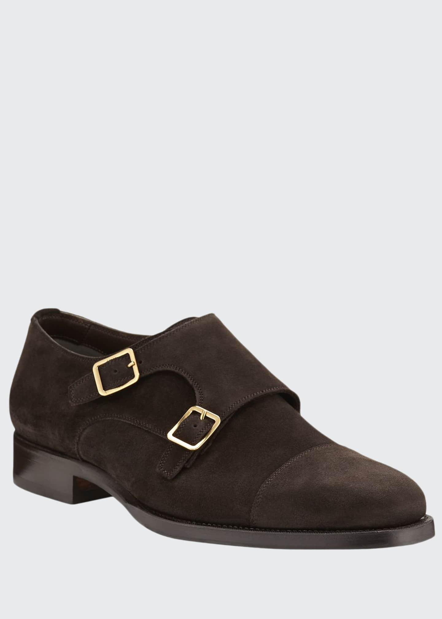 Image 1 of 4: Wessex Suede Double-Monk Shoe