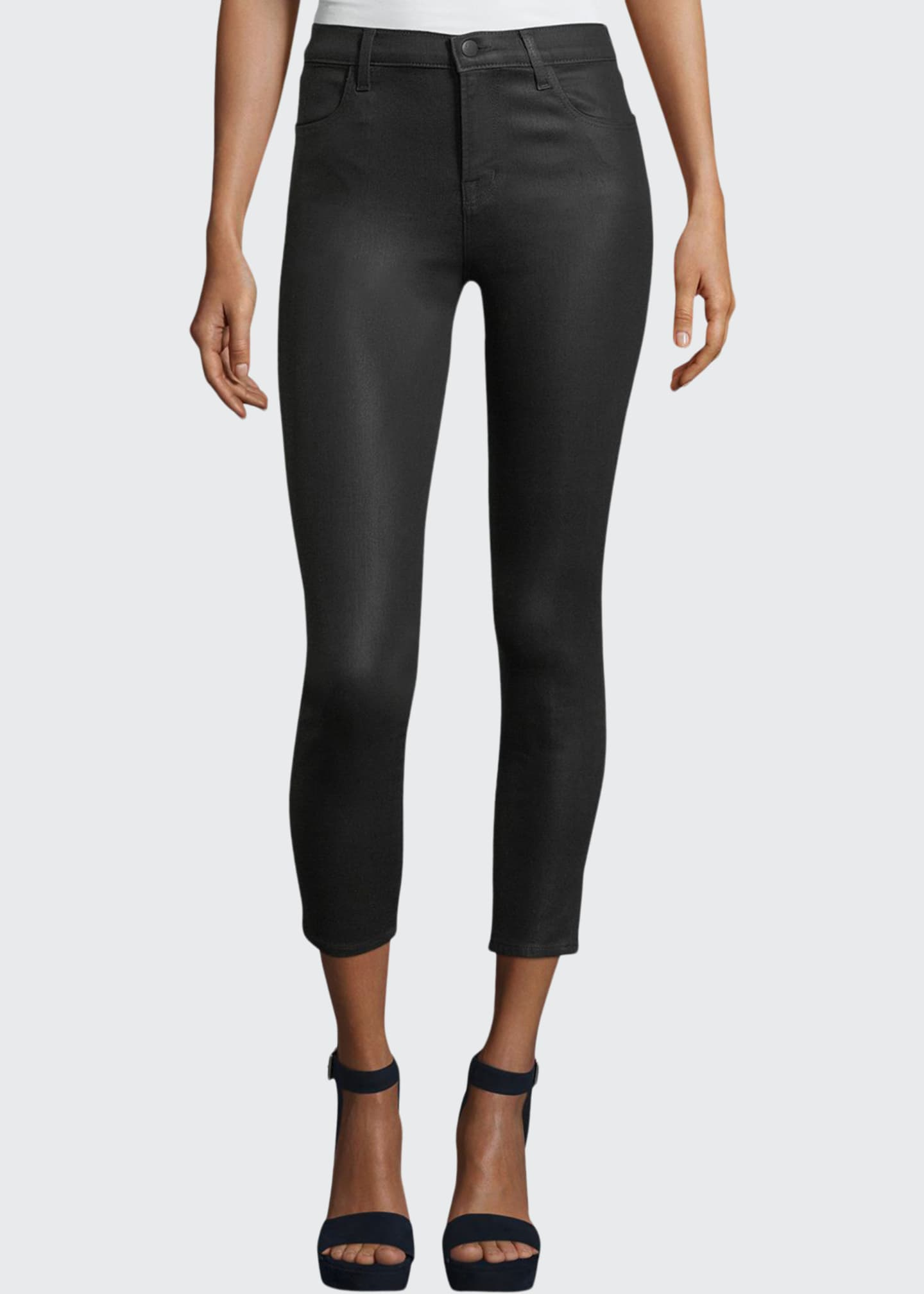 Image 1 of 3: Alana High-Rise Cropped Coated Skinny Pants