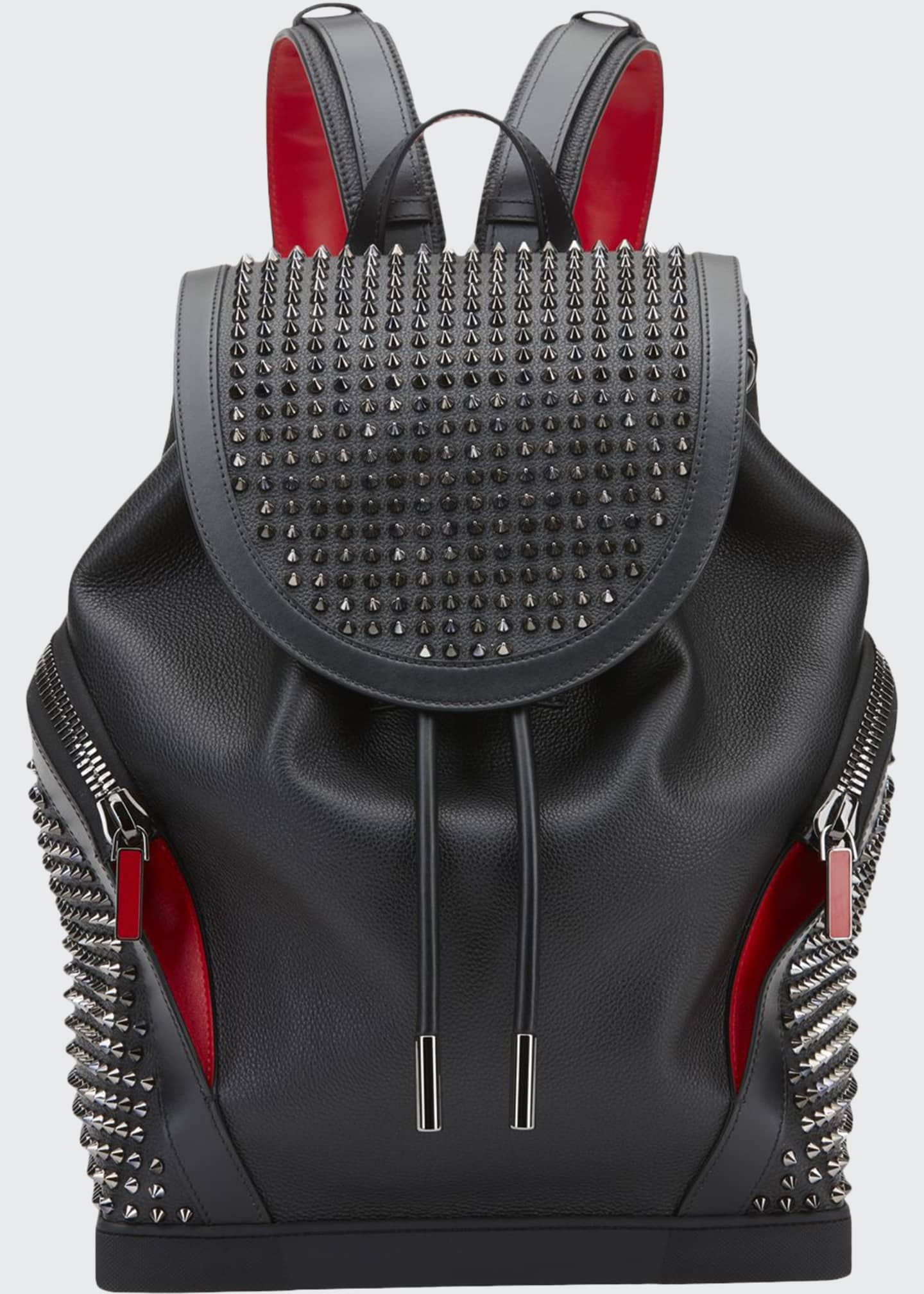 Image 1 of 1: Men's Basic Studded Leather Backpack