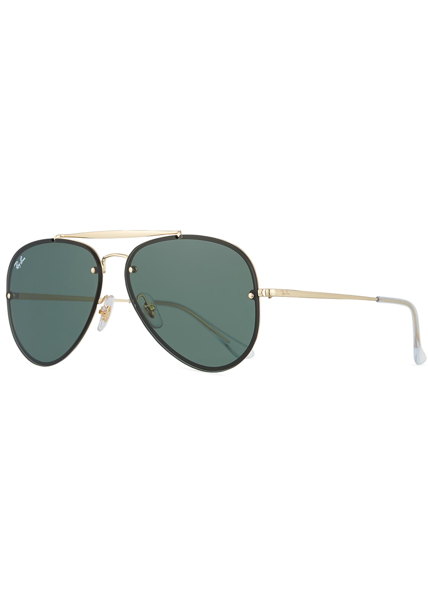 Image 1 of 3: Brow Bar Aviator Sunglasses