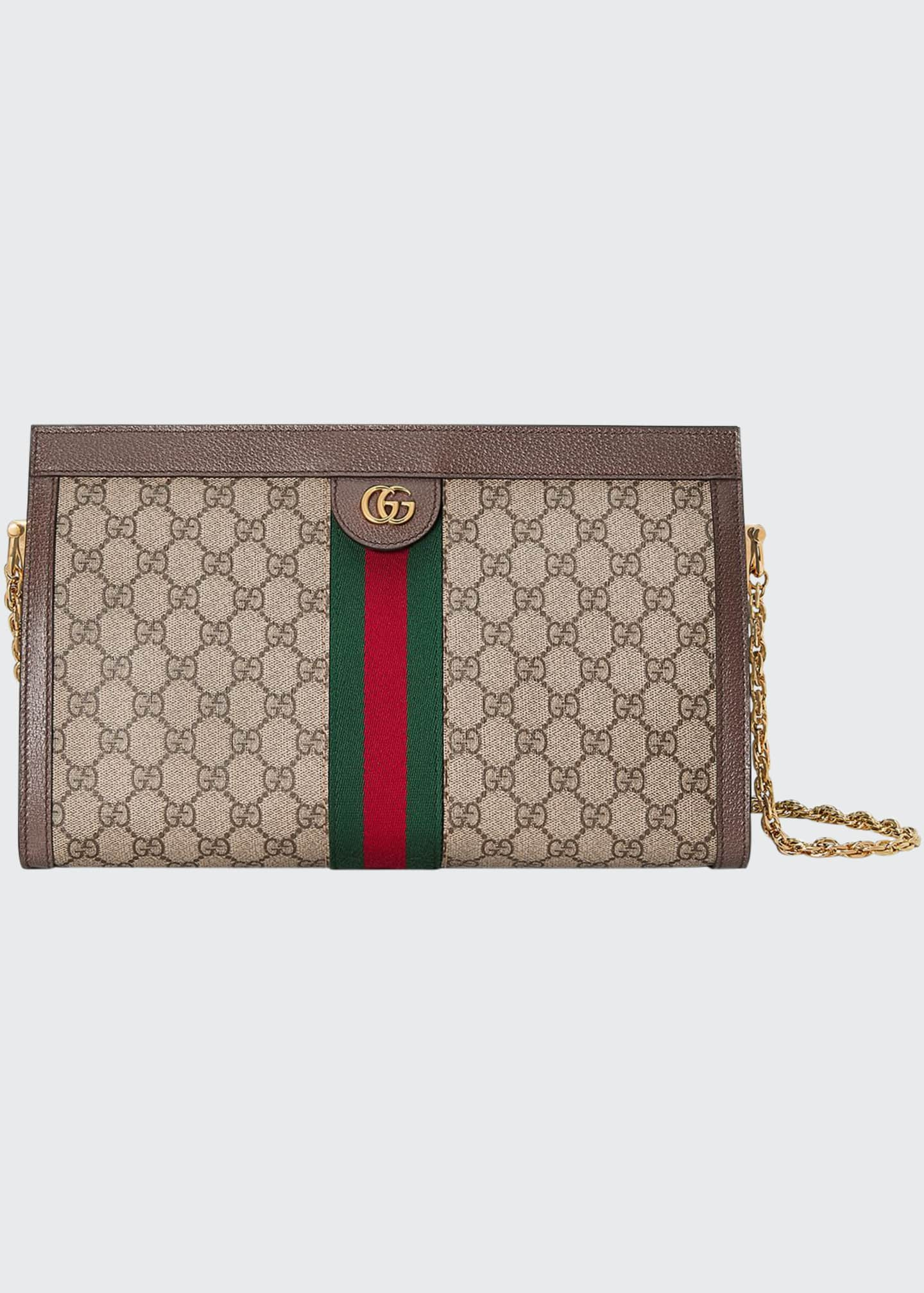 Gucci Linea Dragoni Medium GG Supreme Canvas Chain