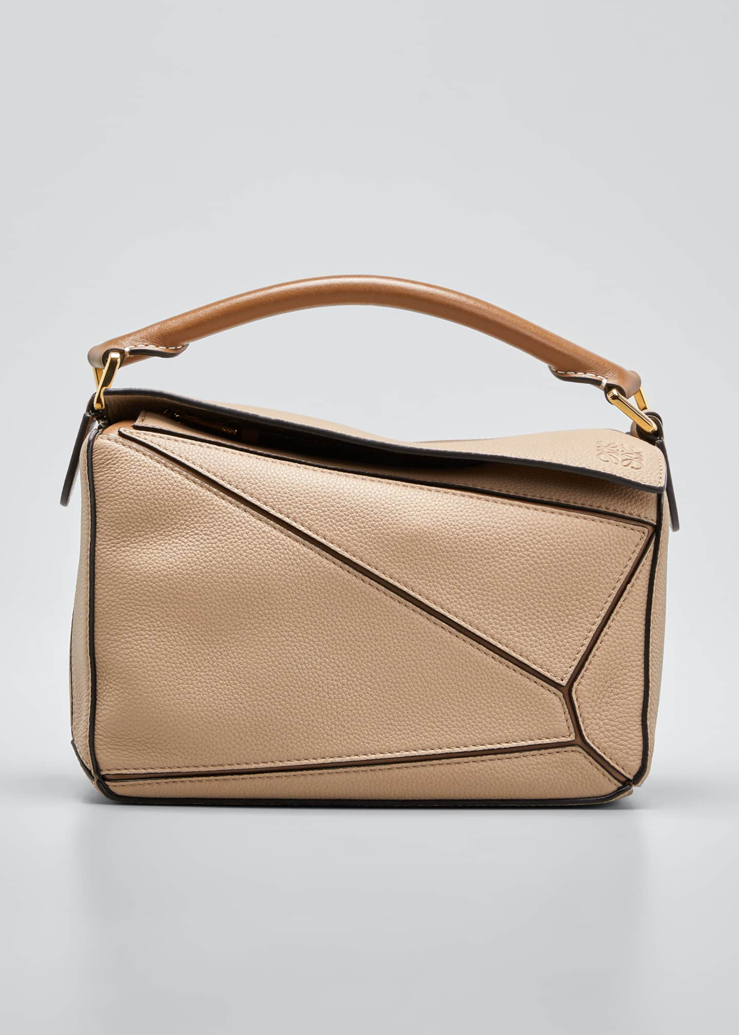 Image 1 of 5: Puzzle Small Leather Satchel Bag