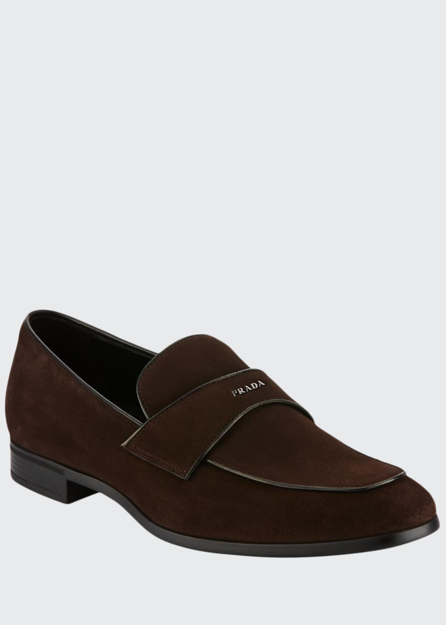 Prada Suede Vitello Loafer