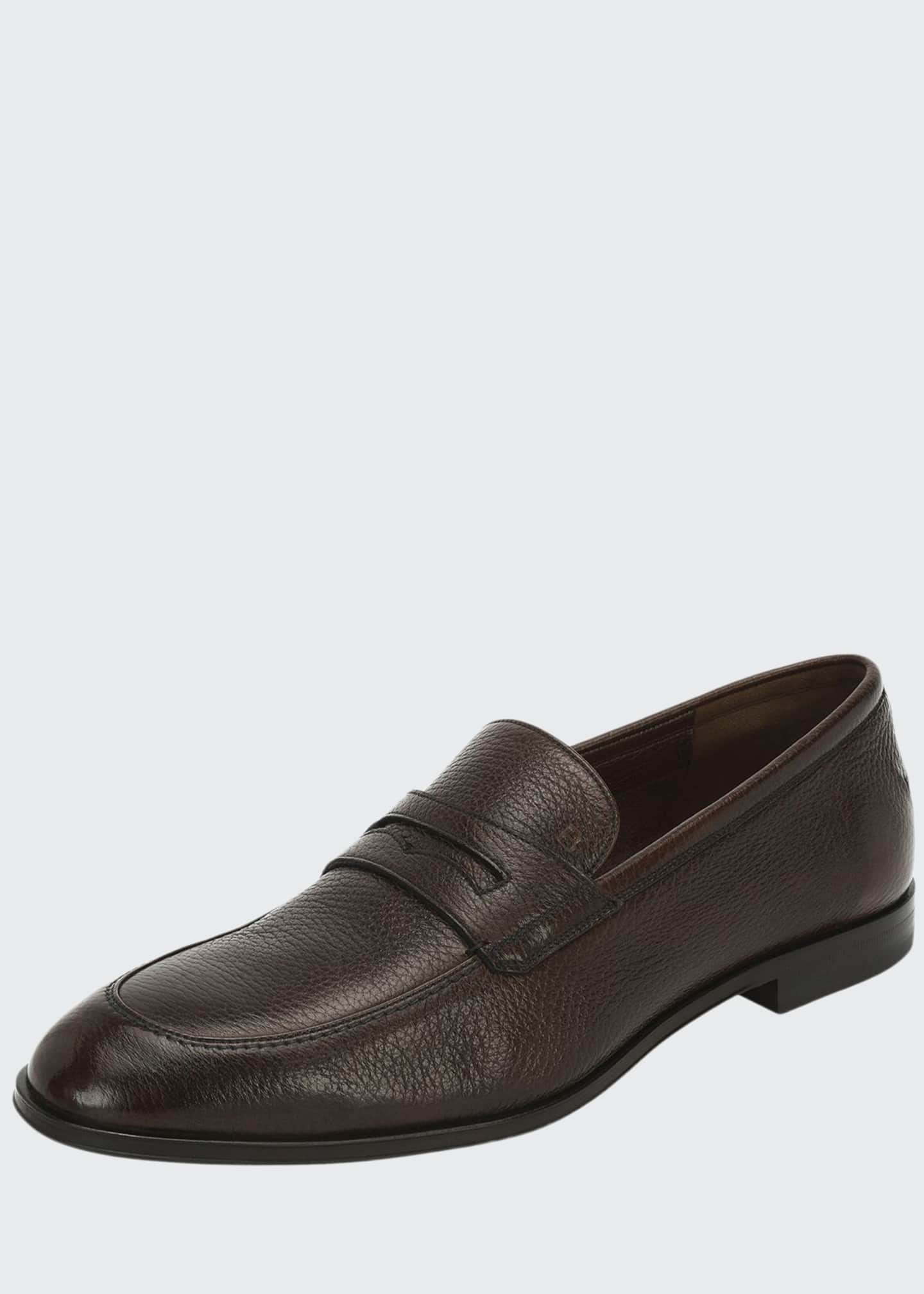 Image 1 of 3: Webb Leather Penny Loafer