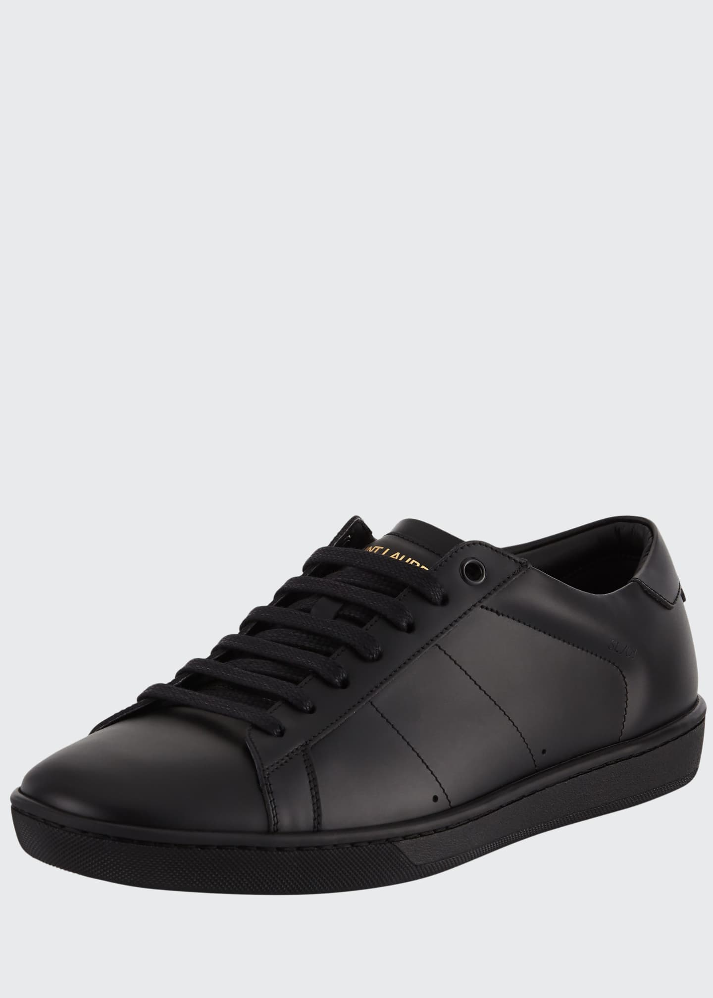 Image 1 of 3: Men's SL01 Leather Low-Top Sneakers