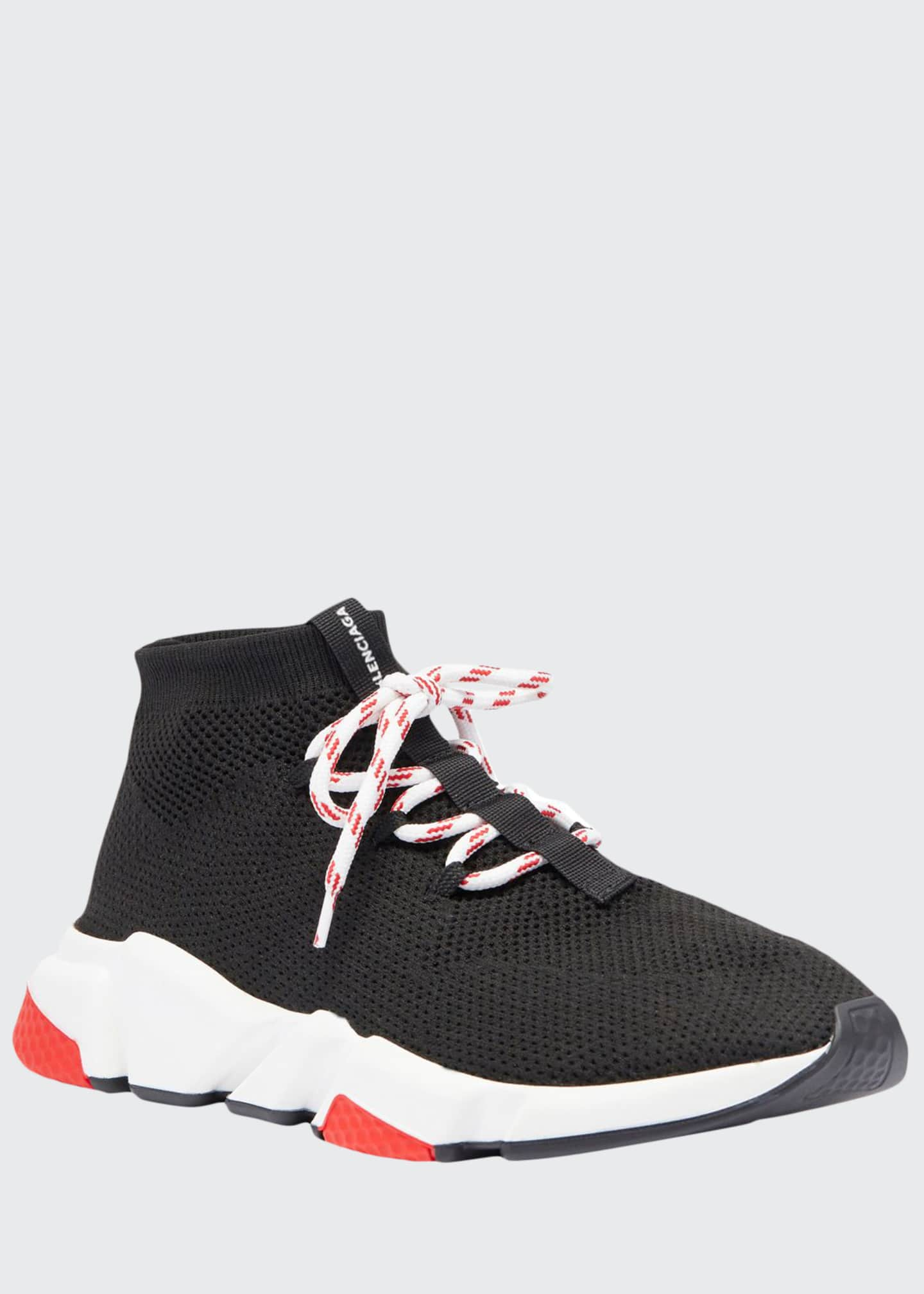 Image 1 of 3: Men's Speed Lace-Up Mesh Sneakers