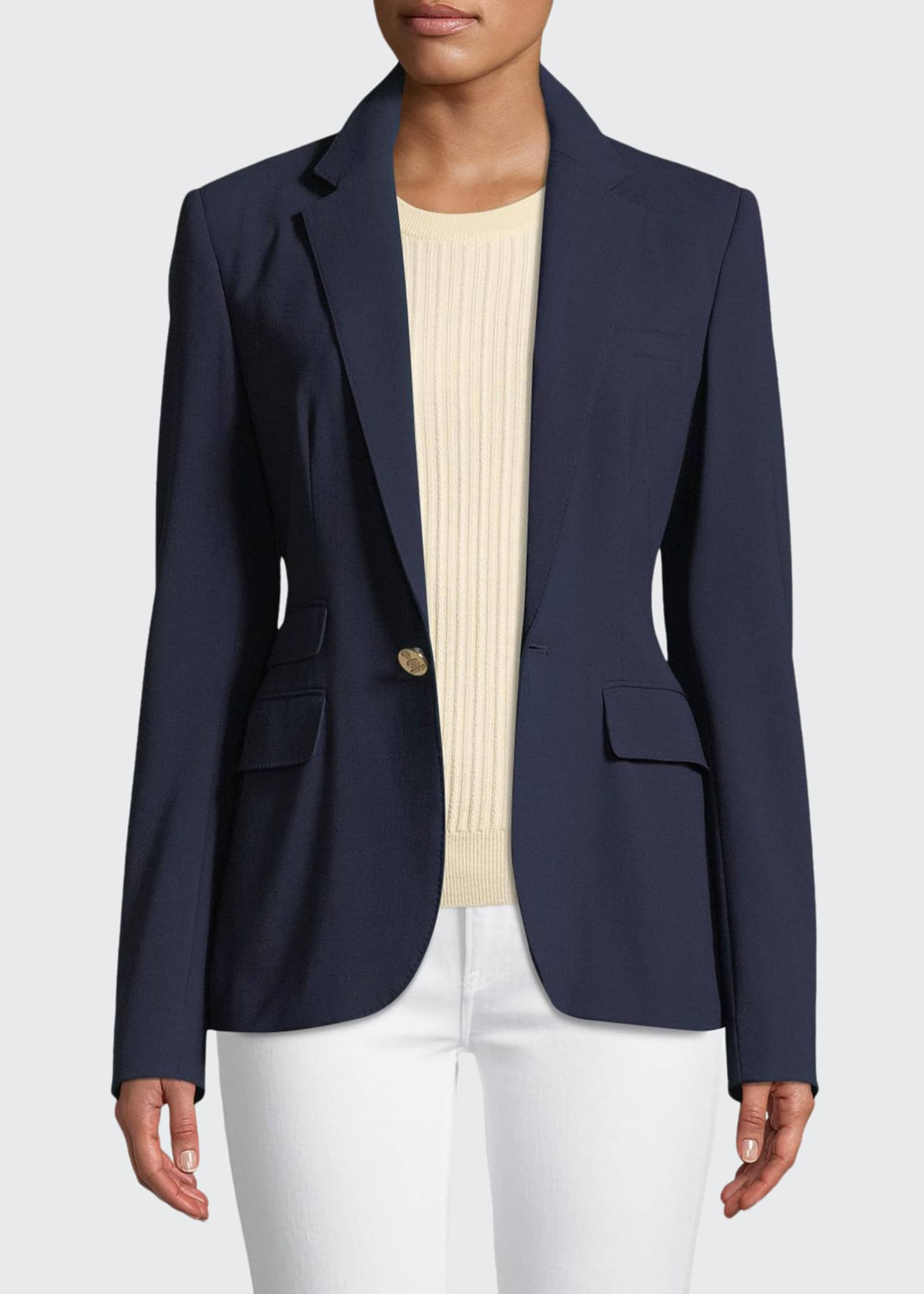 Image 1 of 3: Parker One-Button Wool Jacket