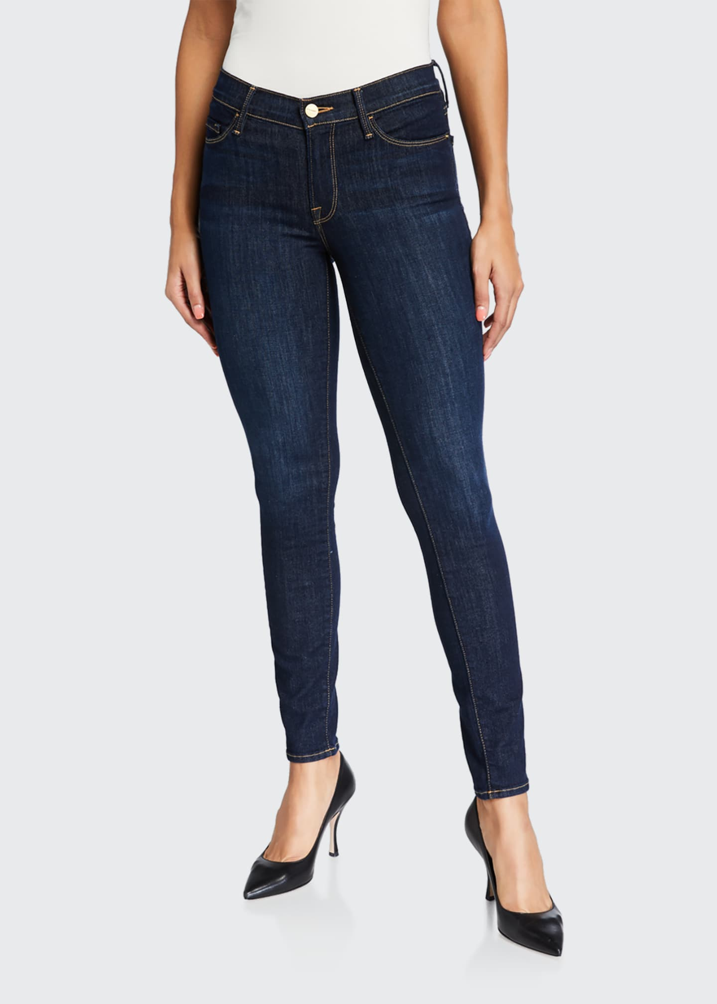 Image 1 of 5: Le Skinny de Jeanne Ankle Jeans, Huntley