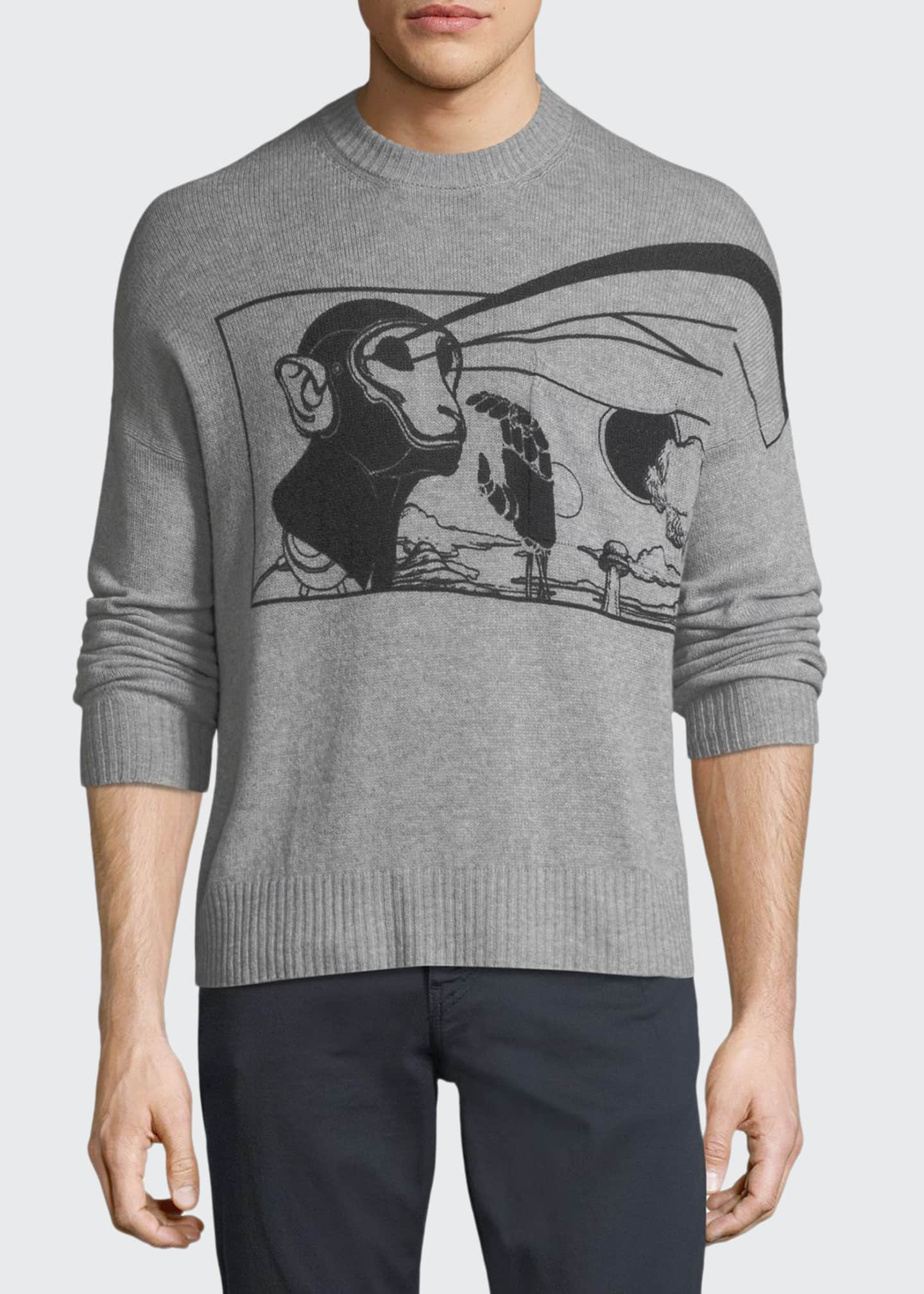 Image 1 of 2: Laser Stencil Cashmere Sweater