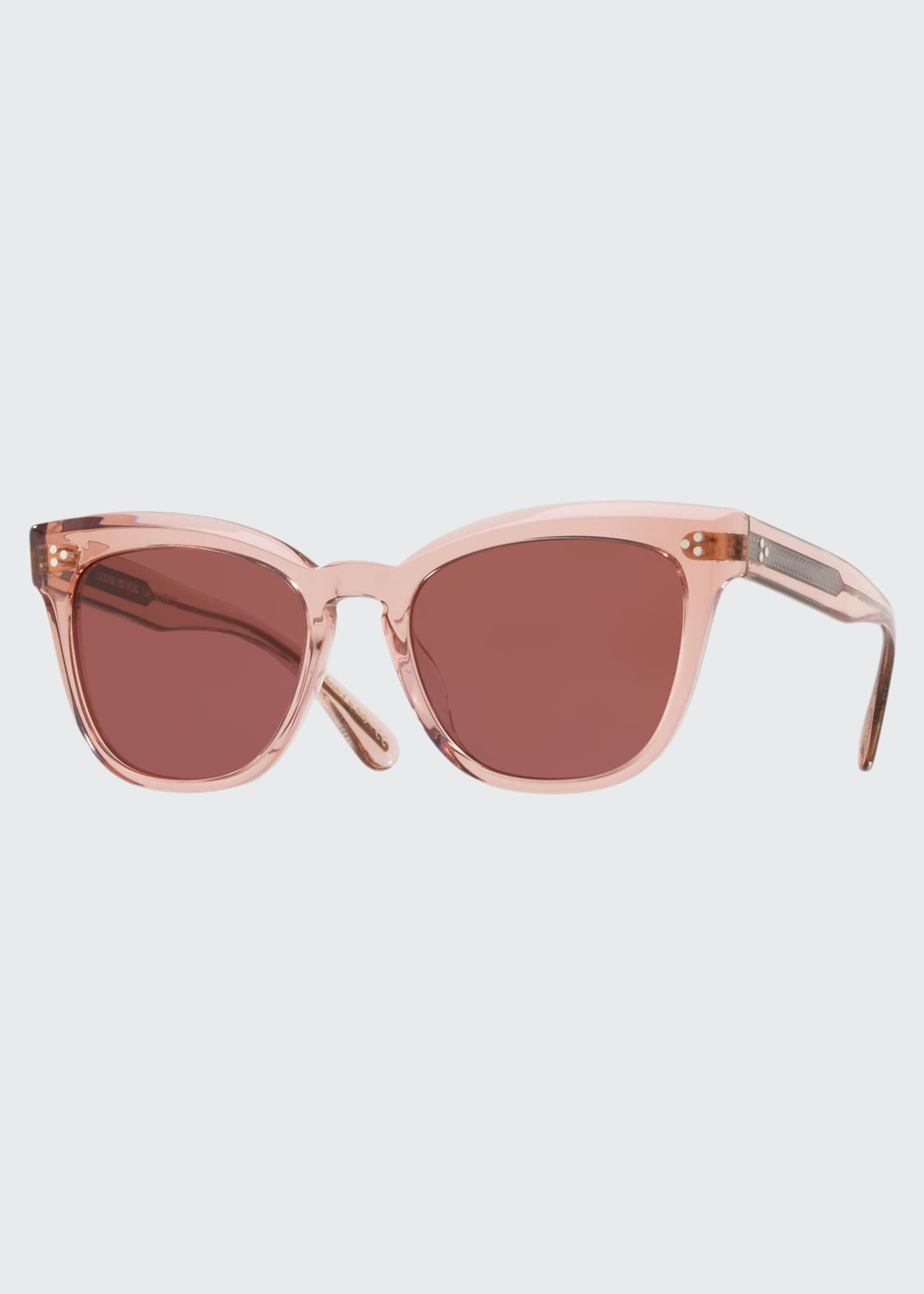 Image 1 of 1: Marianela Rounded Plastic Sunglasses