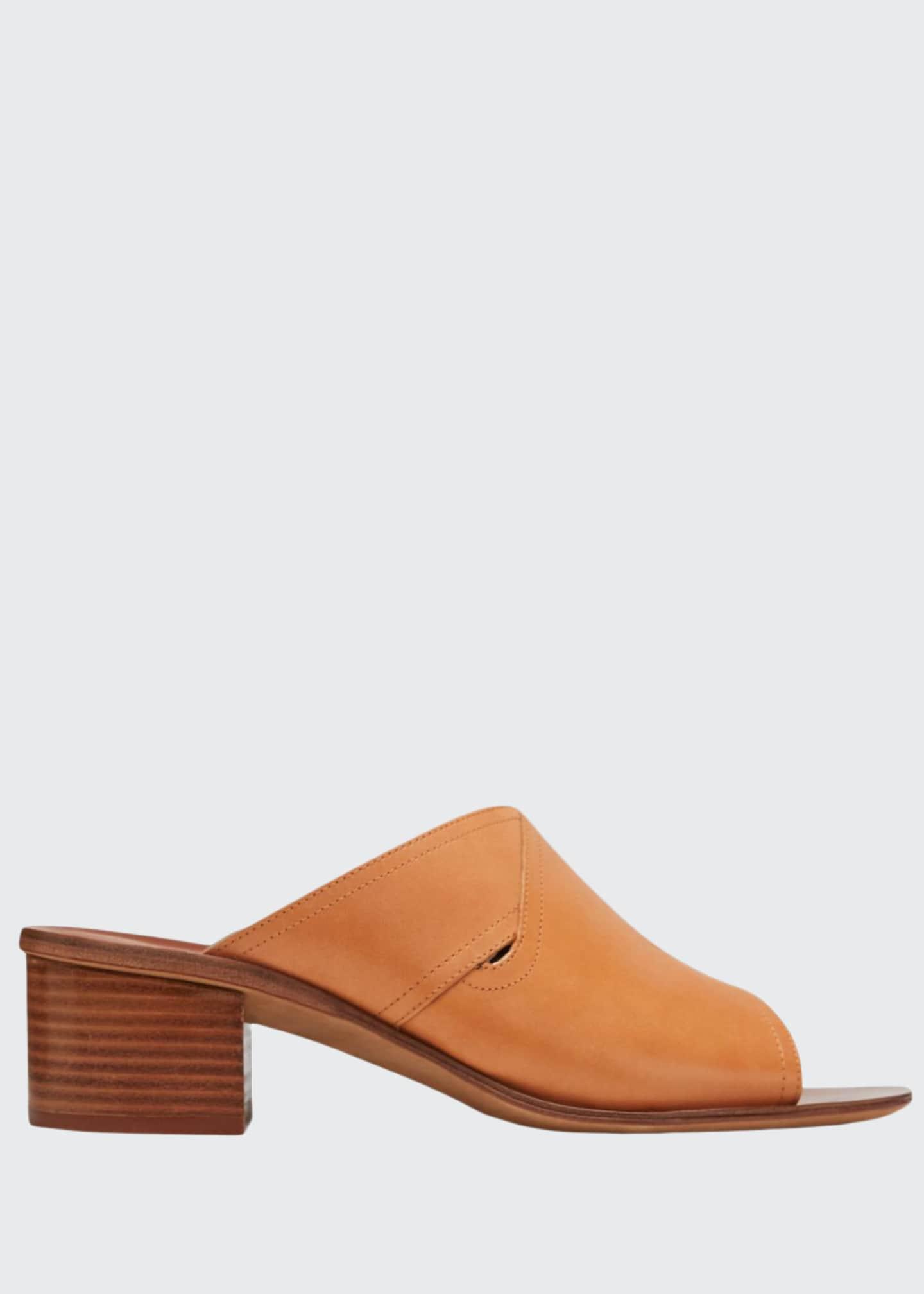 Diane von Furstenberg Hazel Leather Block-Heel Slide Sandals