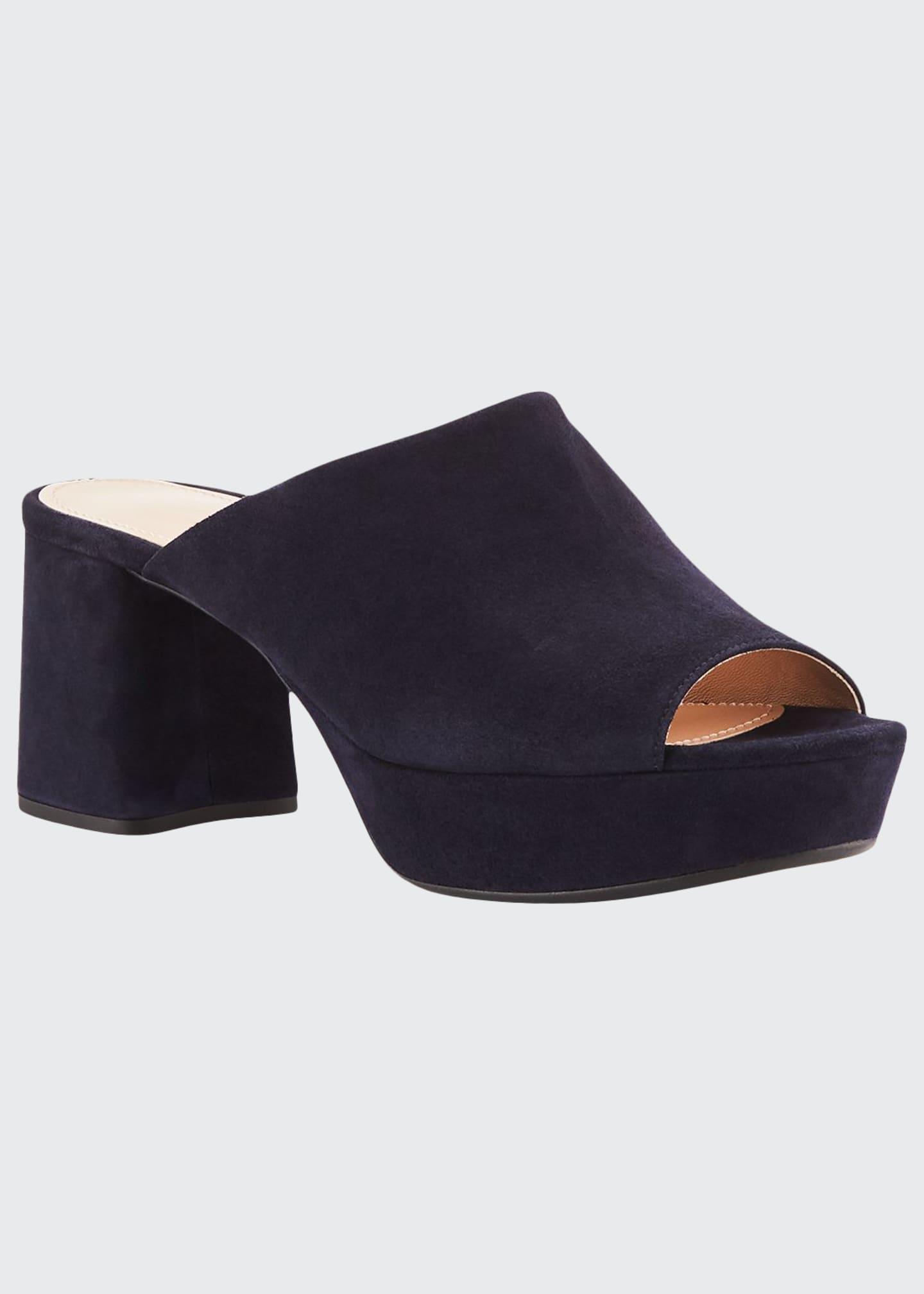 Prada Suede Platform Slide Sandals