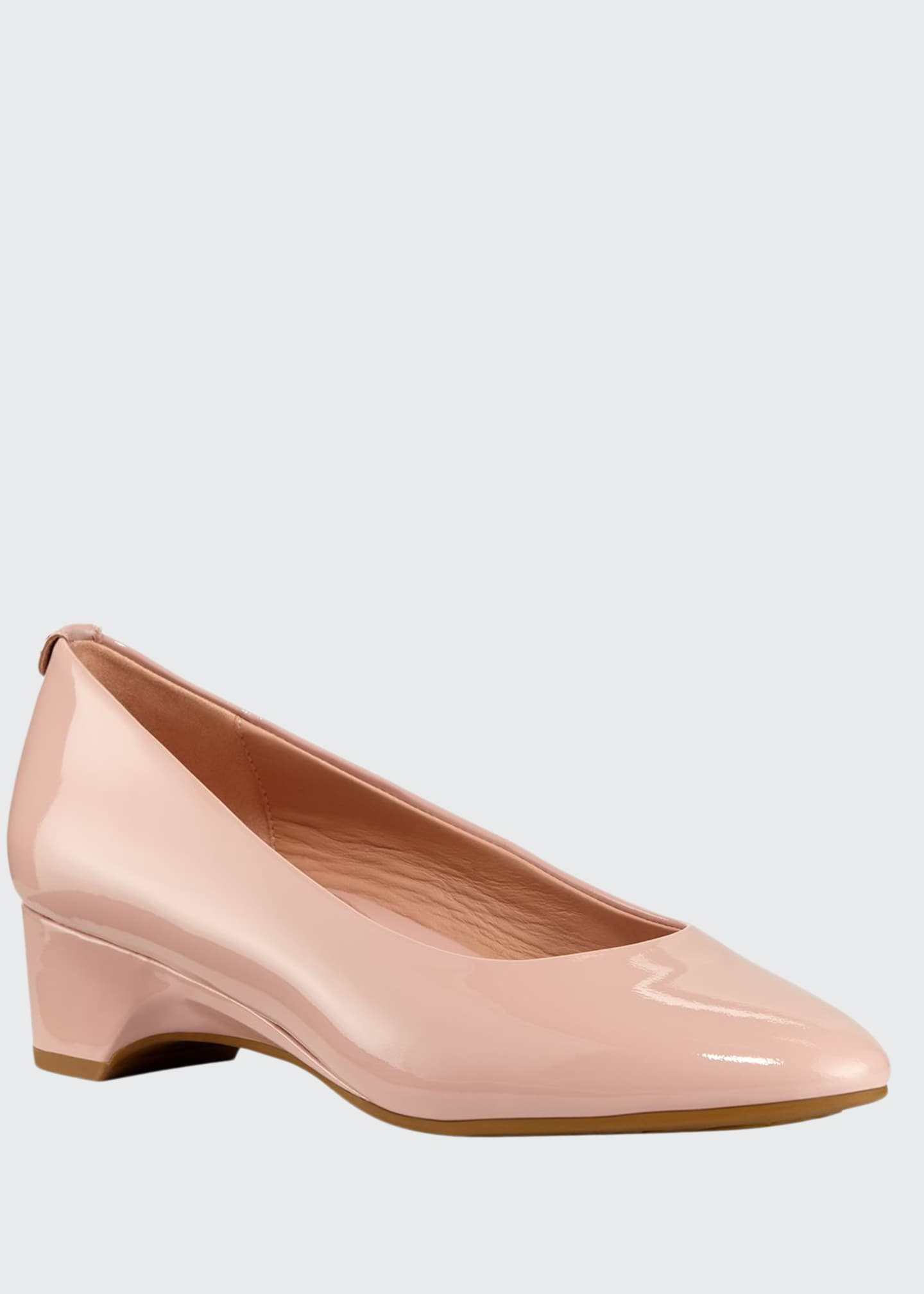 Taryn Rose Babs Soft Patent Leather Demi-Wedge Comfort