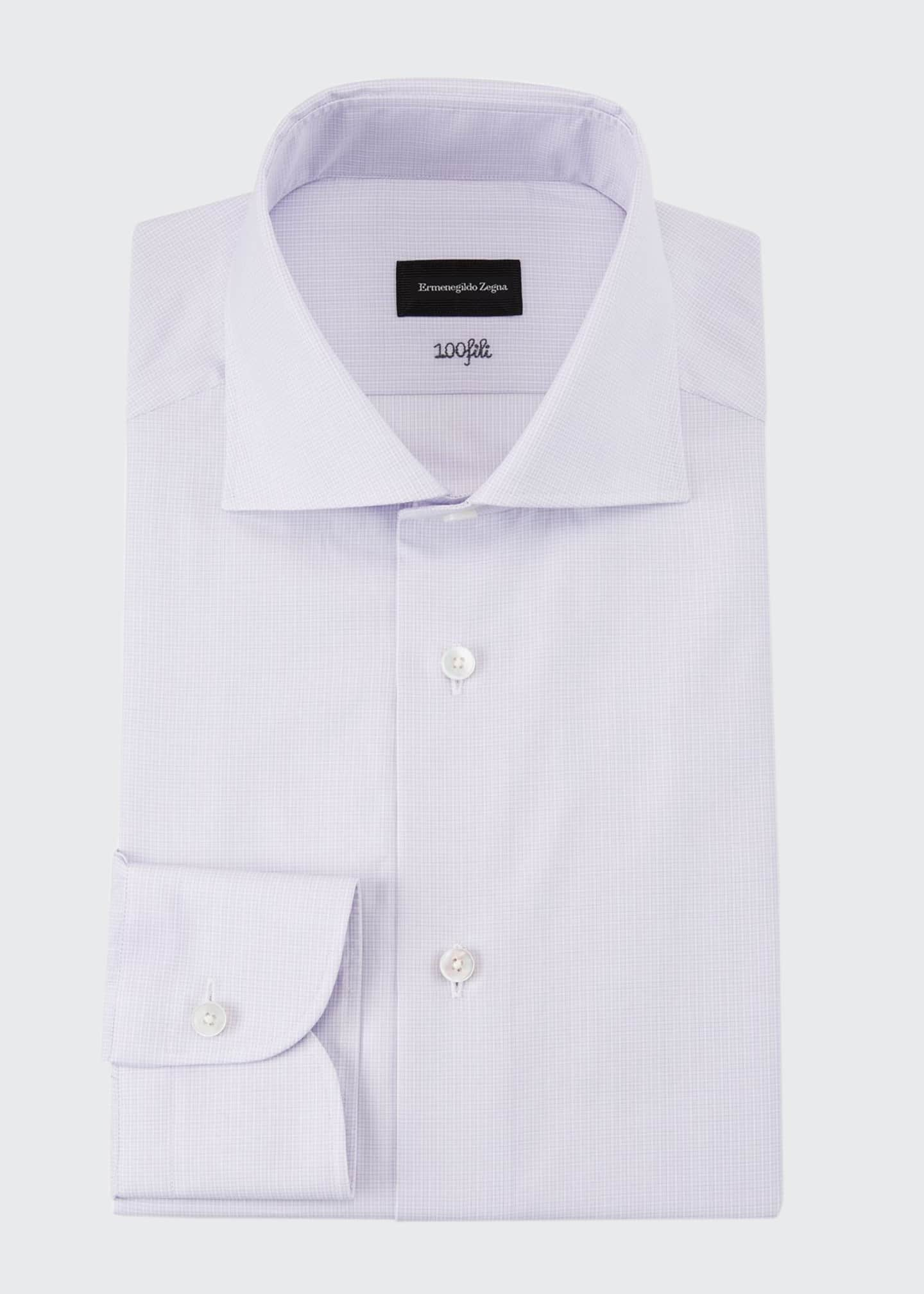 Ermenegildo Zegna Men's 100fili Textured Solid Dress Shirt