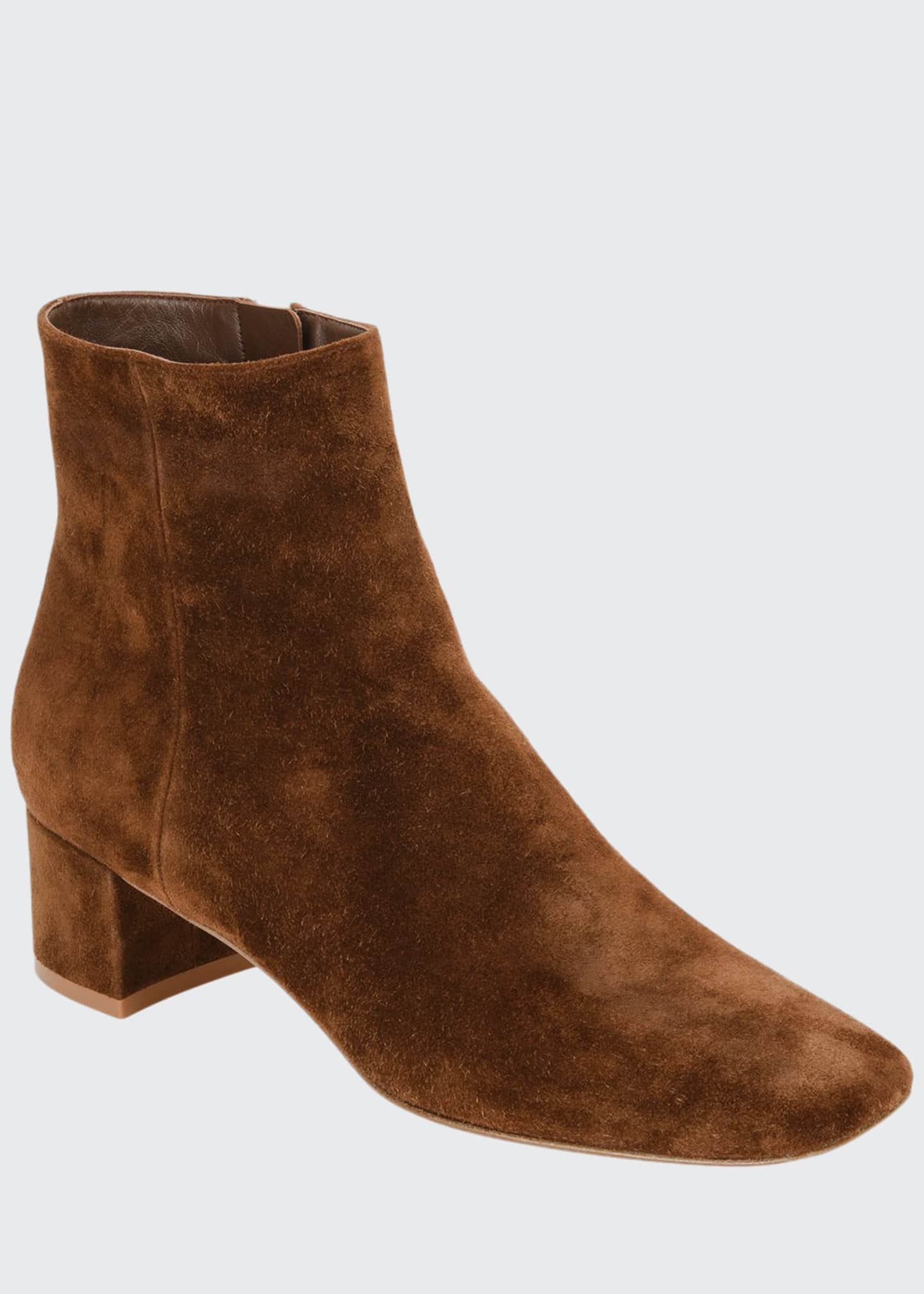 Image 1 of 3: Square-Toe Suede Bootie