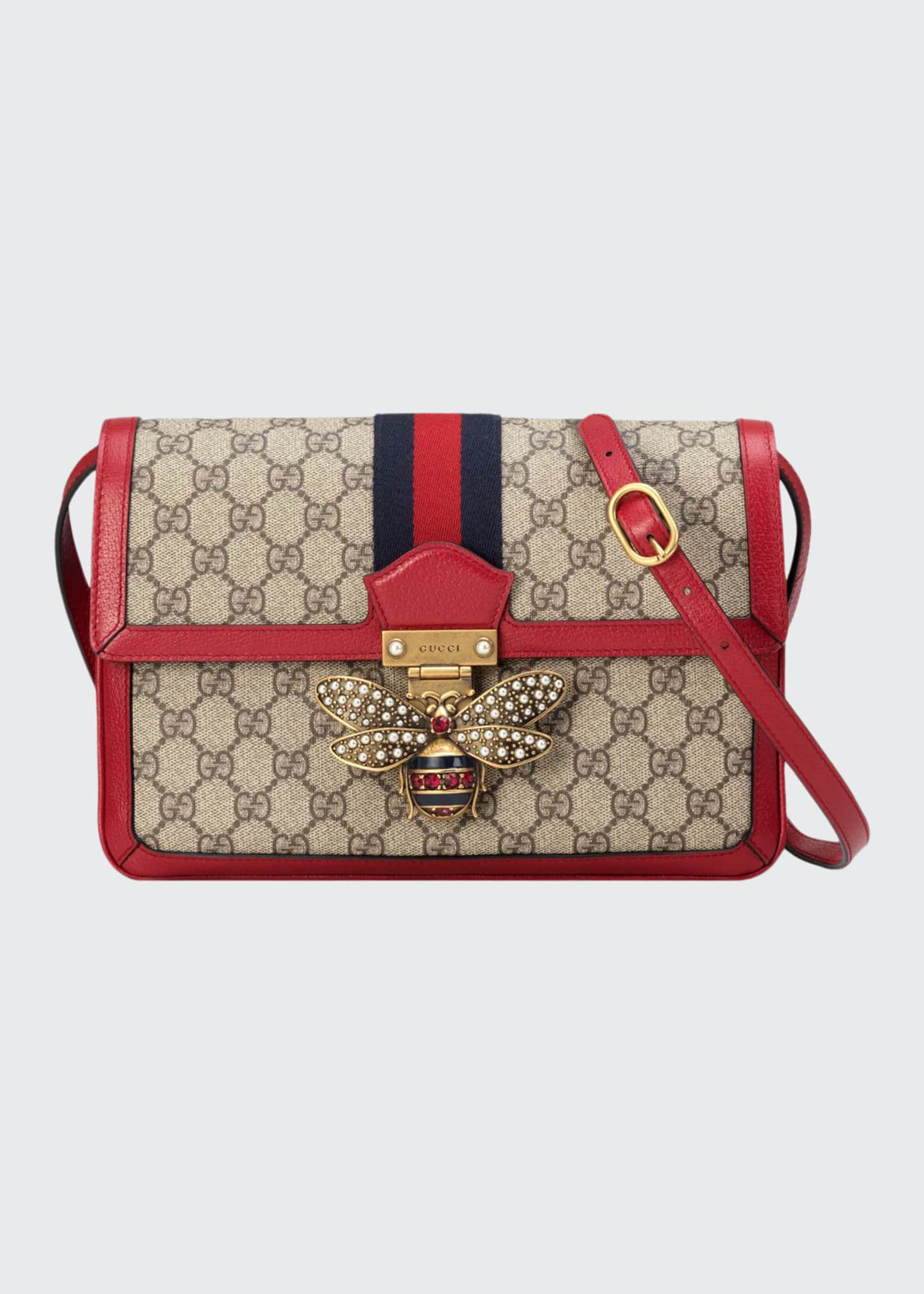 Image 1 of 4: Queen Margaret Medium GG Supreme Shoulder Bag