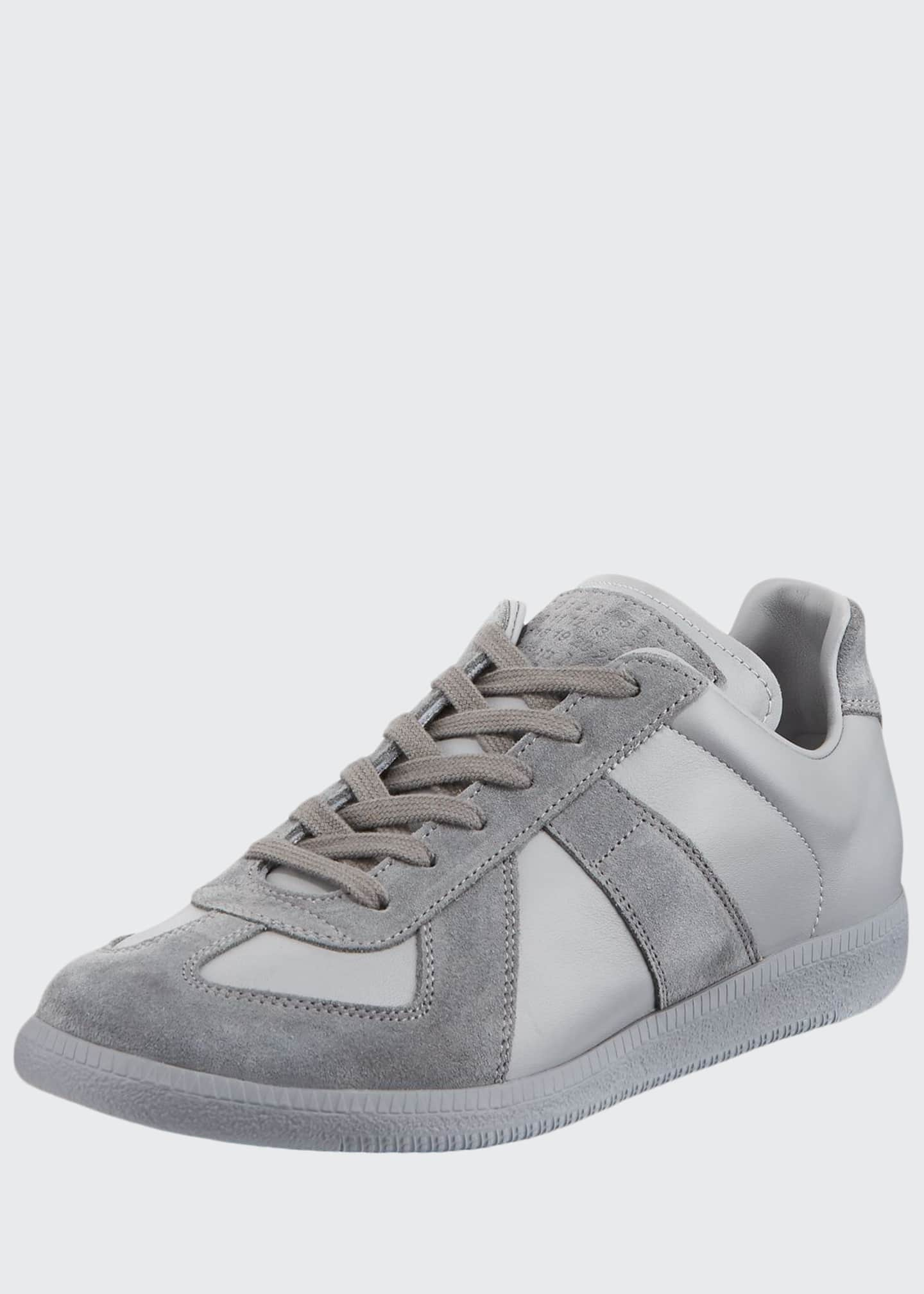 Image 1 of 3: Men's Replica Low-Top Leather Sneakers