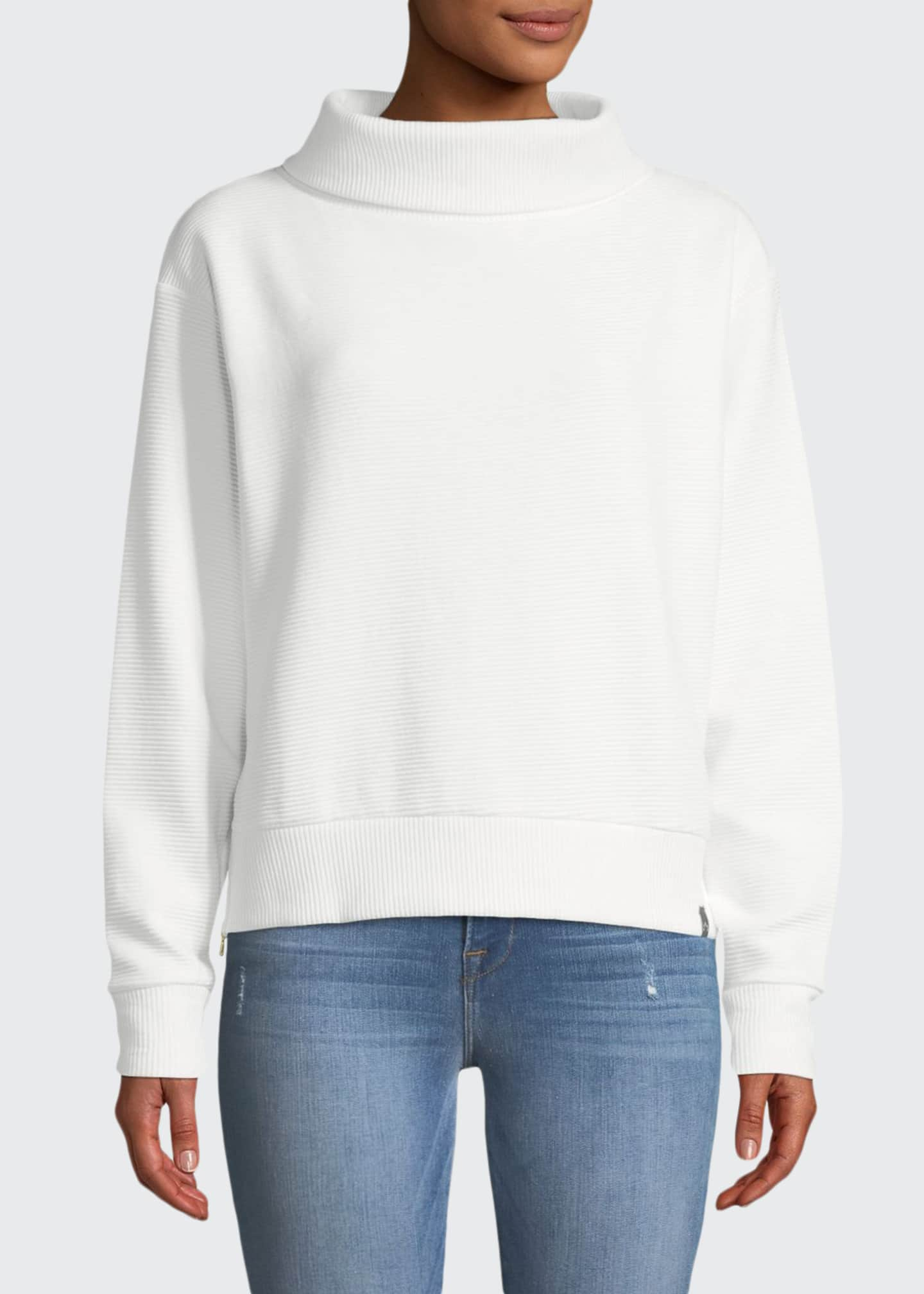 Image 1 of 3: Simon Ribbed Side-Zip Sweater