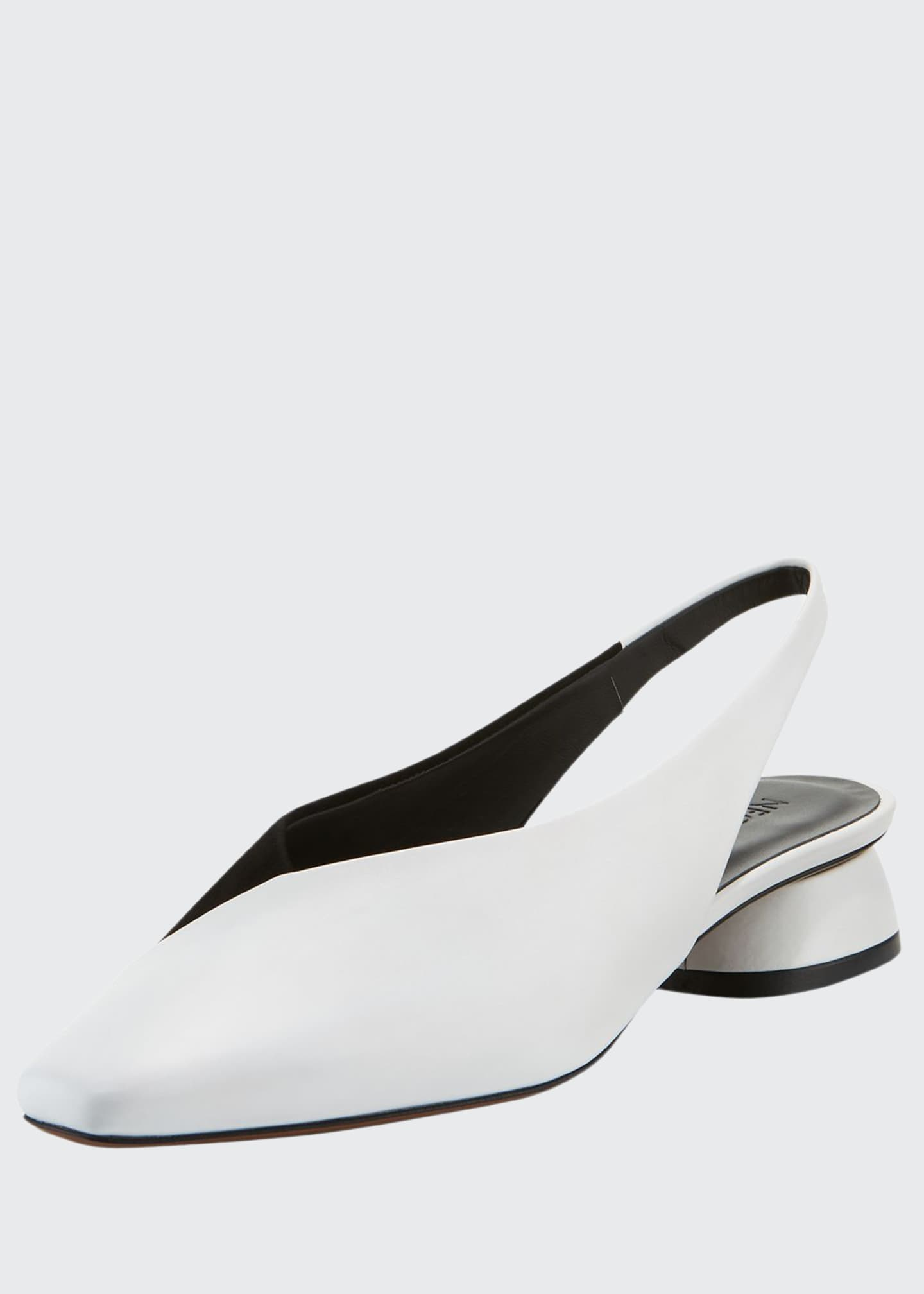 Image 1 of 4: Kingia Slingback Leather Flat