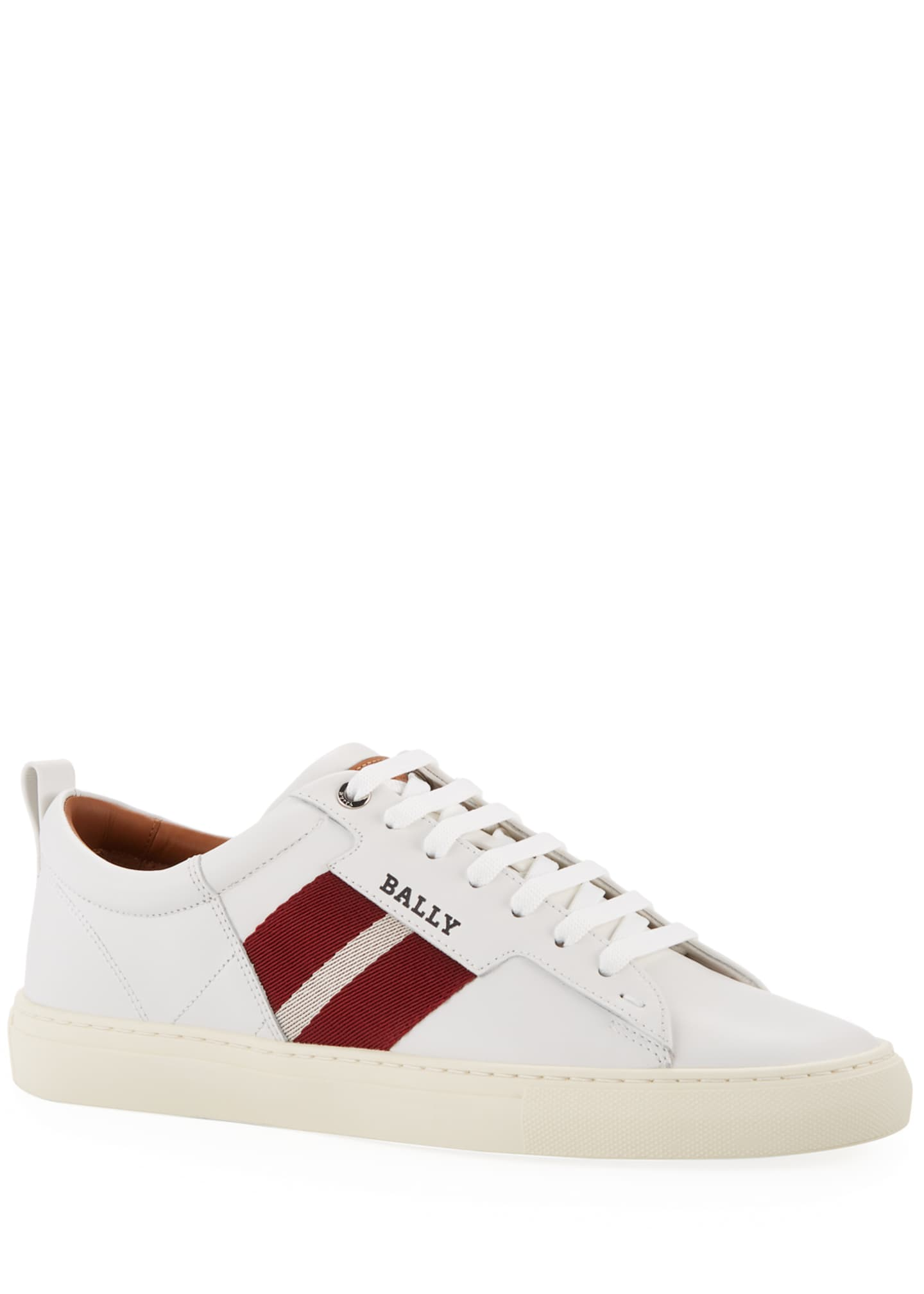 Image 1 of 2: Men's Helvio Leather Low-Top Sneakers