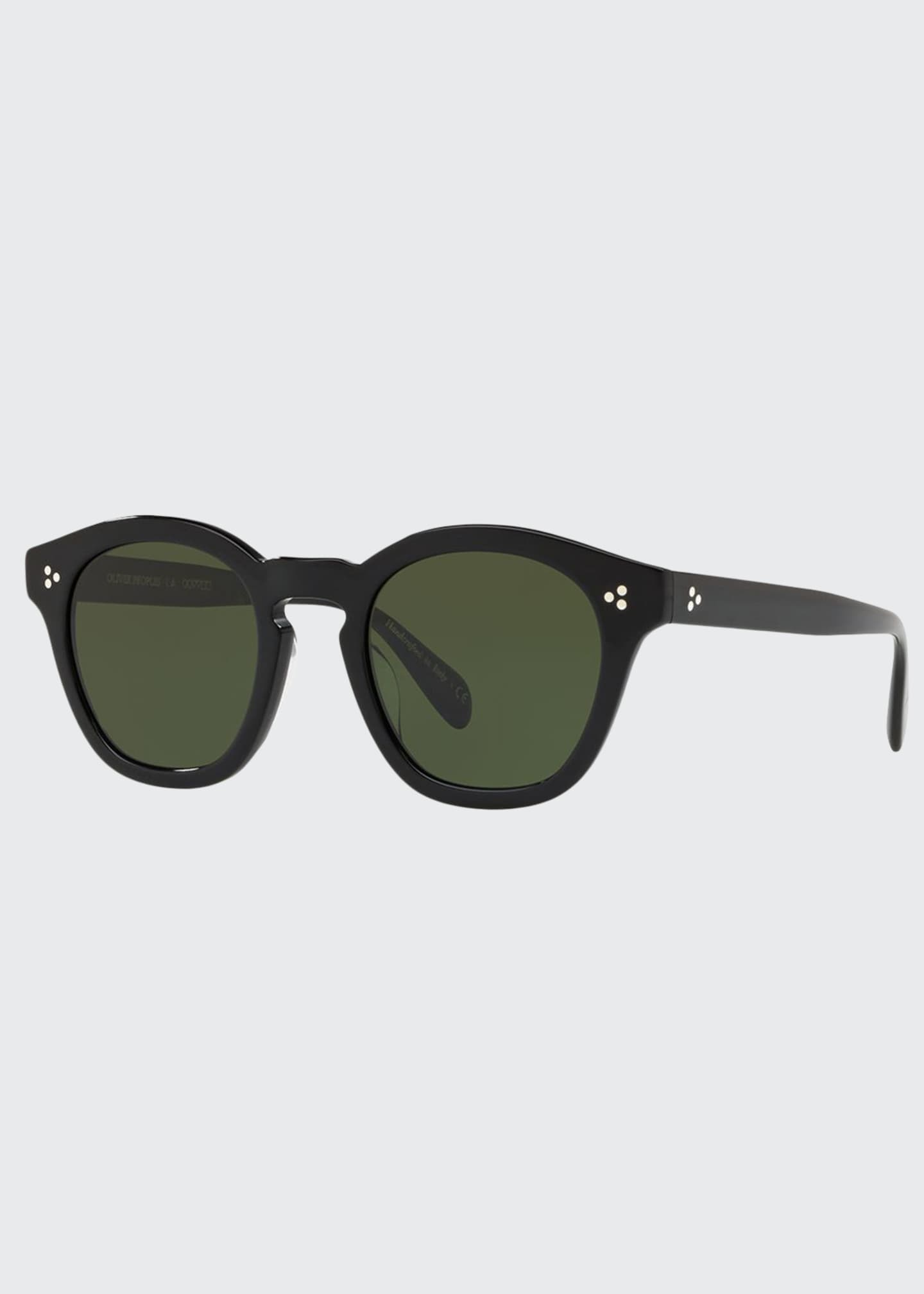 Image 1 of 2: Boudreau L.A. Mirrored Round Acetate Sunglasses