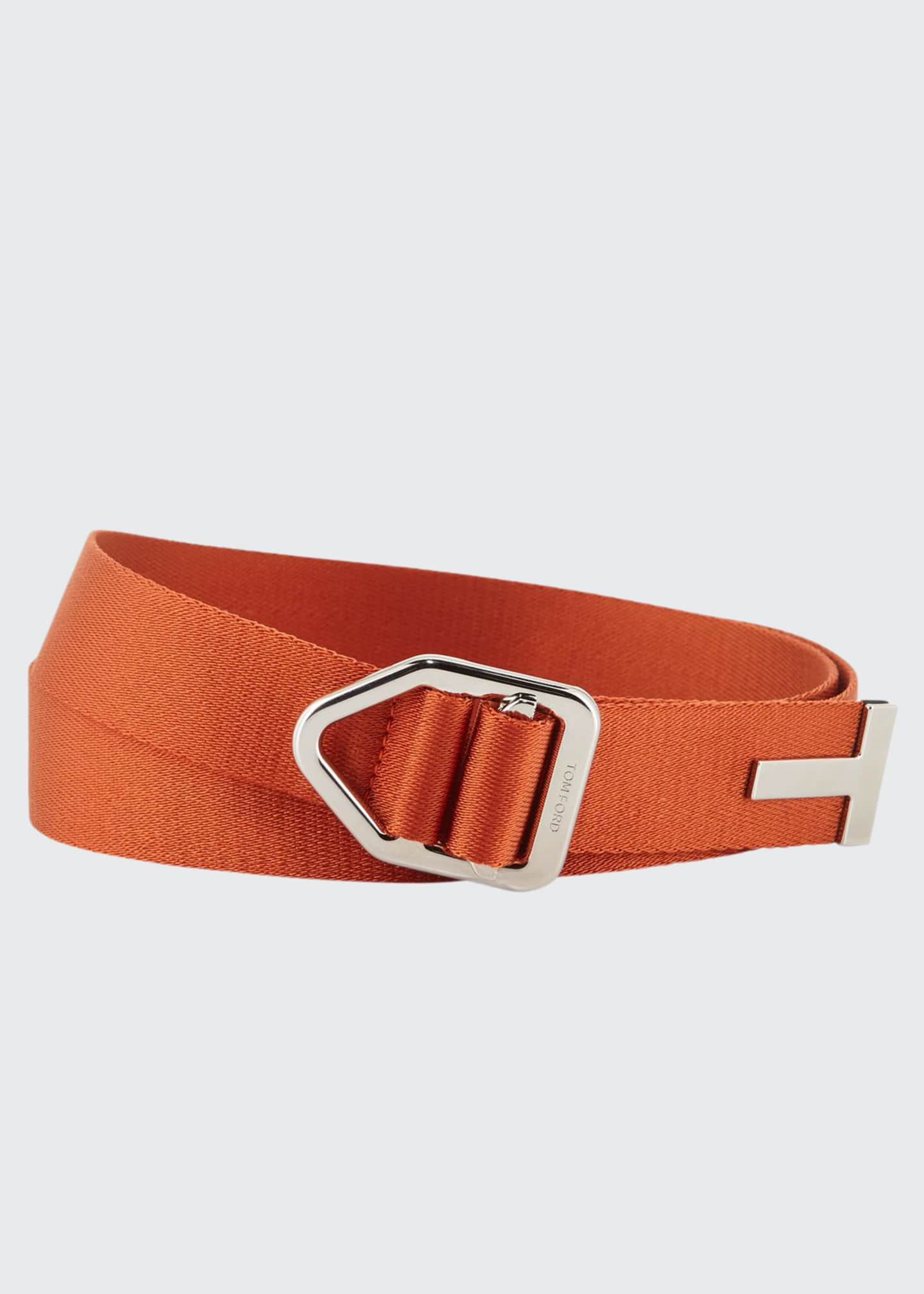 Image 1 of 1: Men's Nylon Belt with Pull-Through Buckle