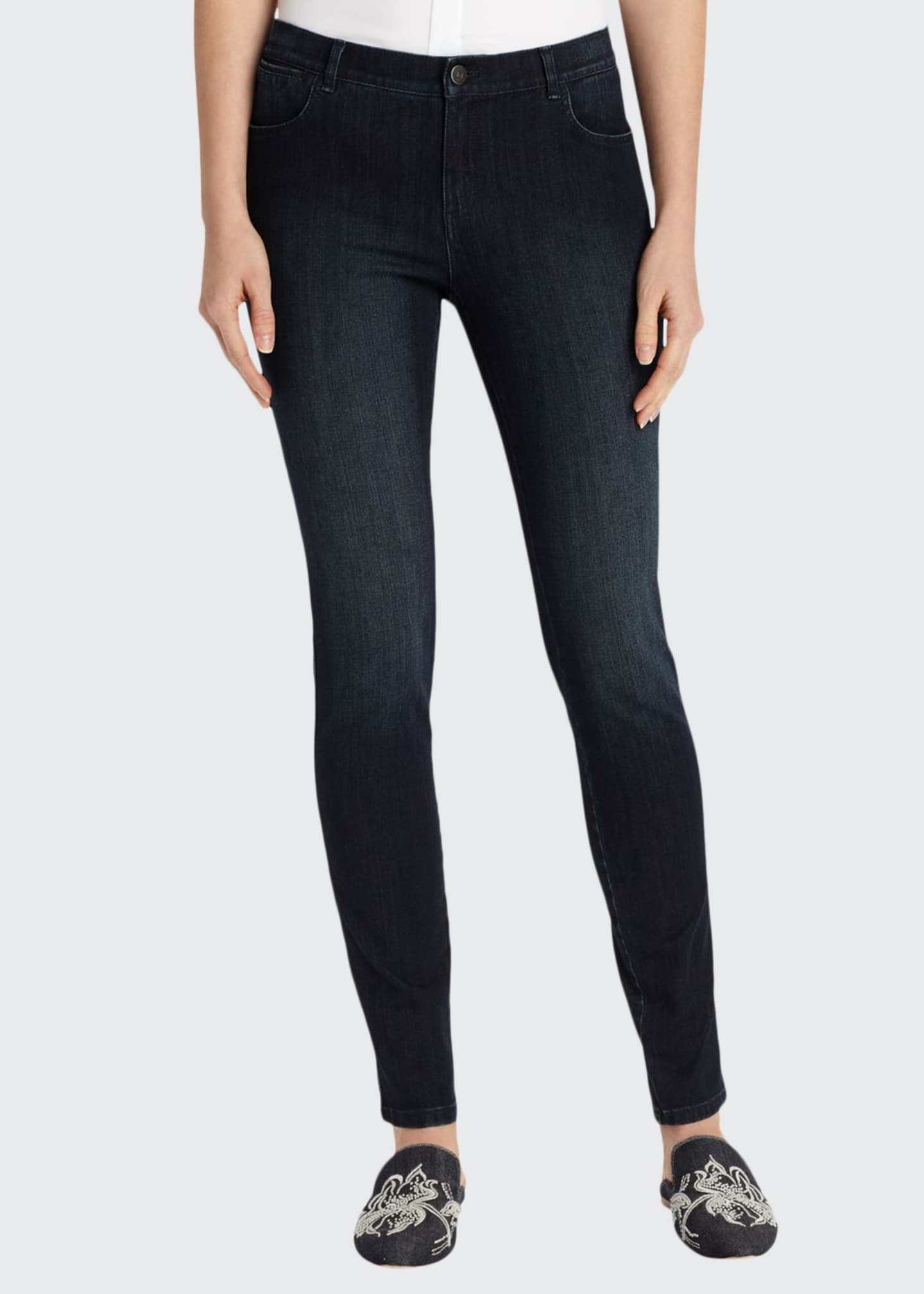 Image 1 of 4: Mercer Stretch-Denim Slim-Leg Jeans