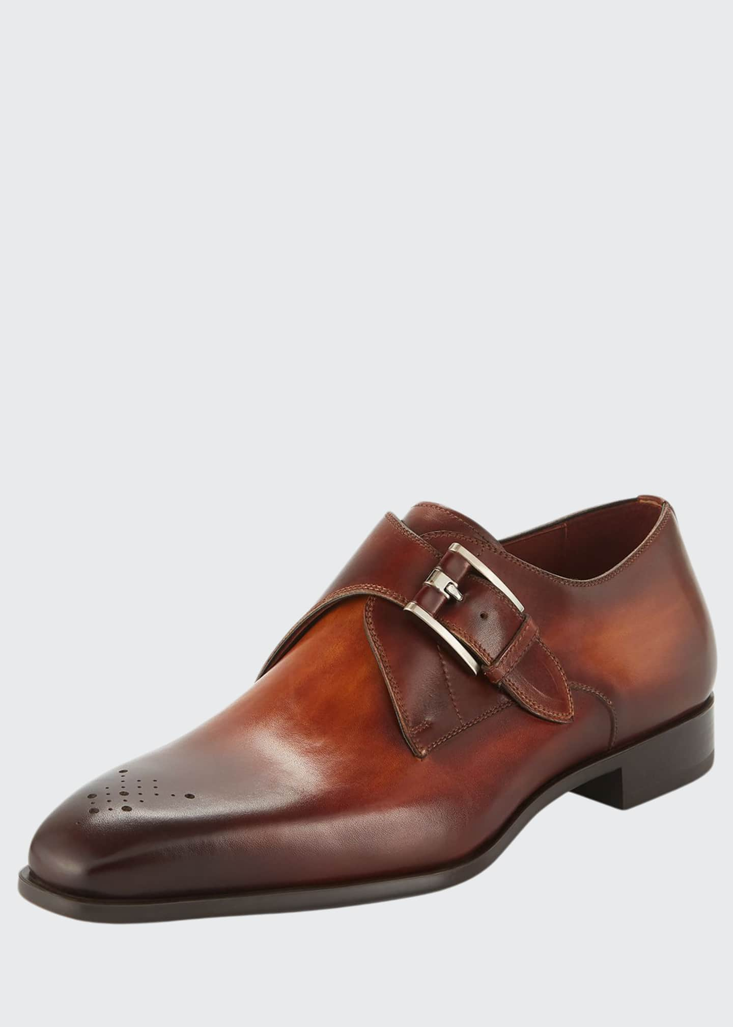 Image 1 of 3: Men's Single-Monk Leather Shoes