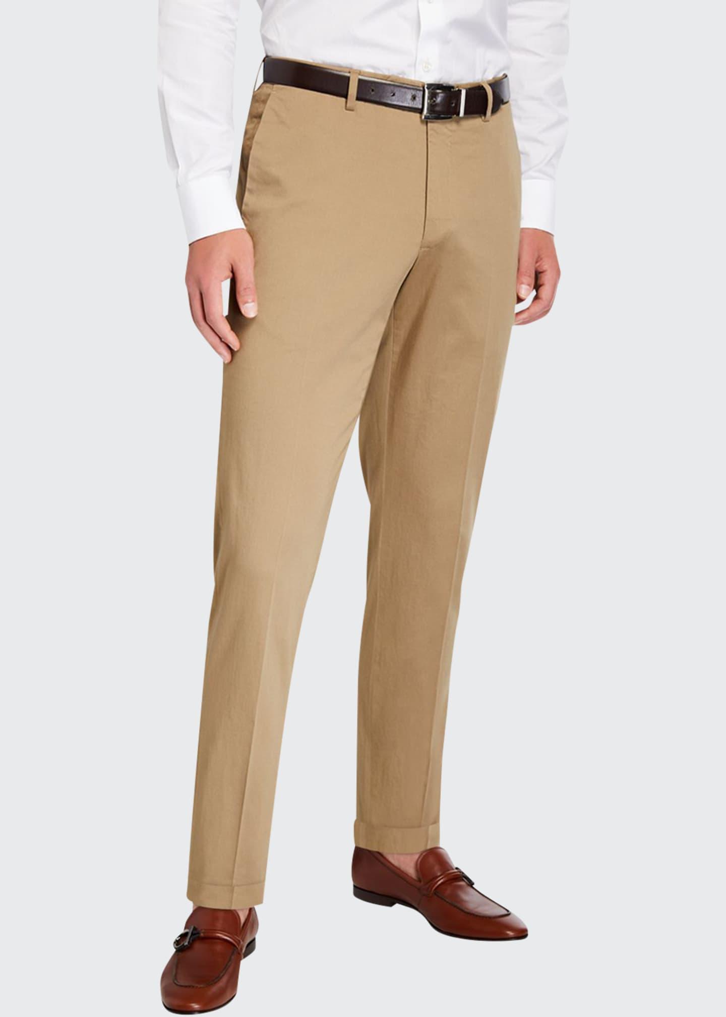 Incotex Men's Mickey Slim-Fit Silkochino Pants