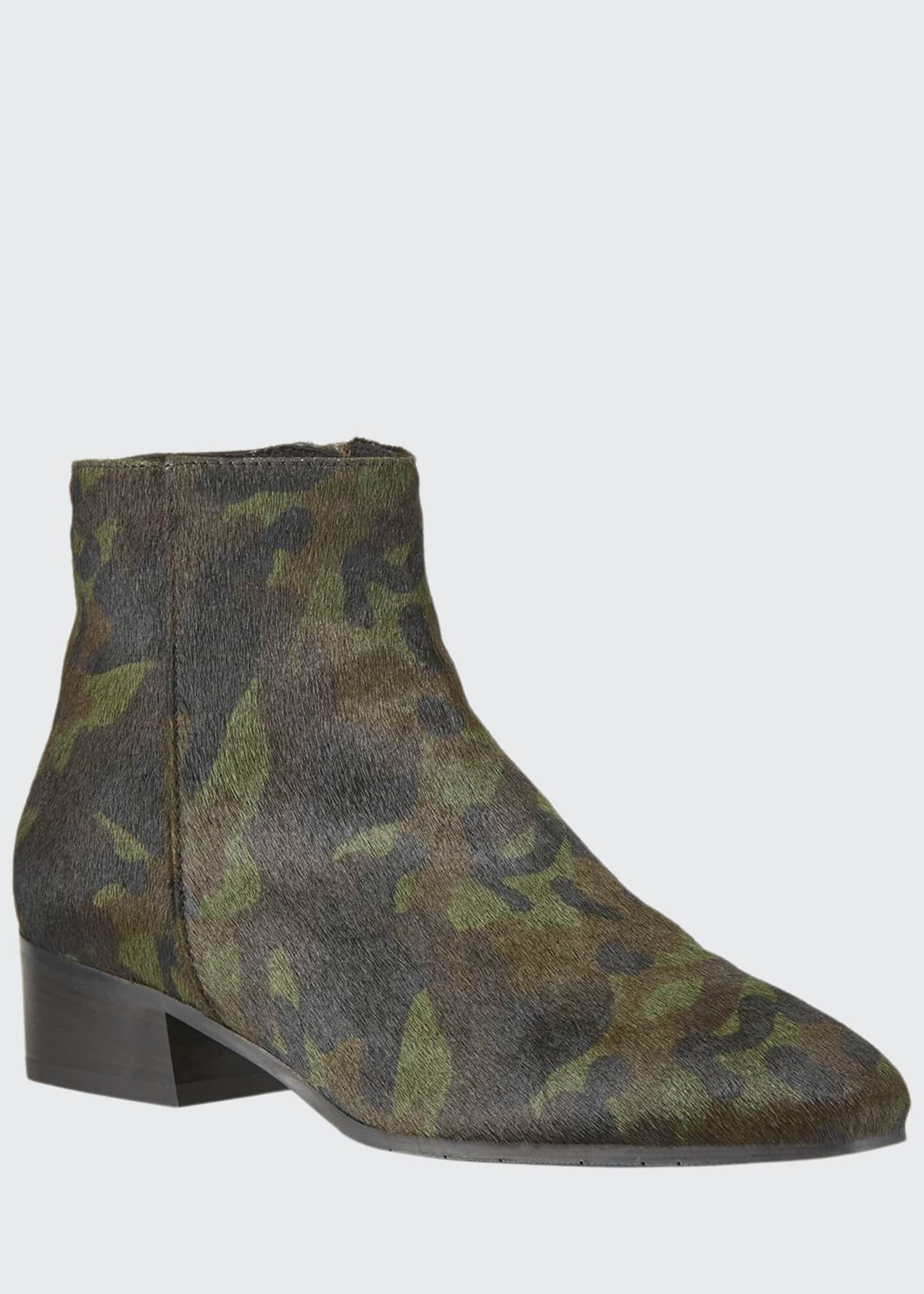 Image 1 of 3: Fuoco Leopard-Print Booties